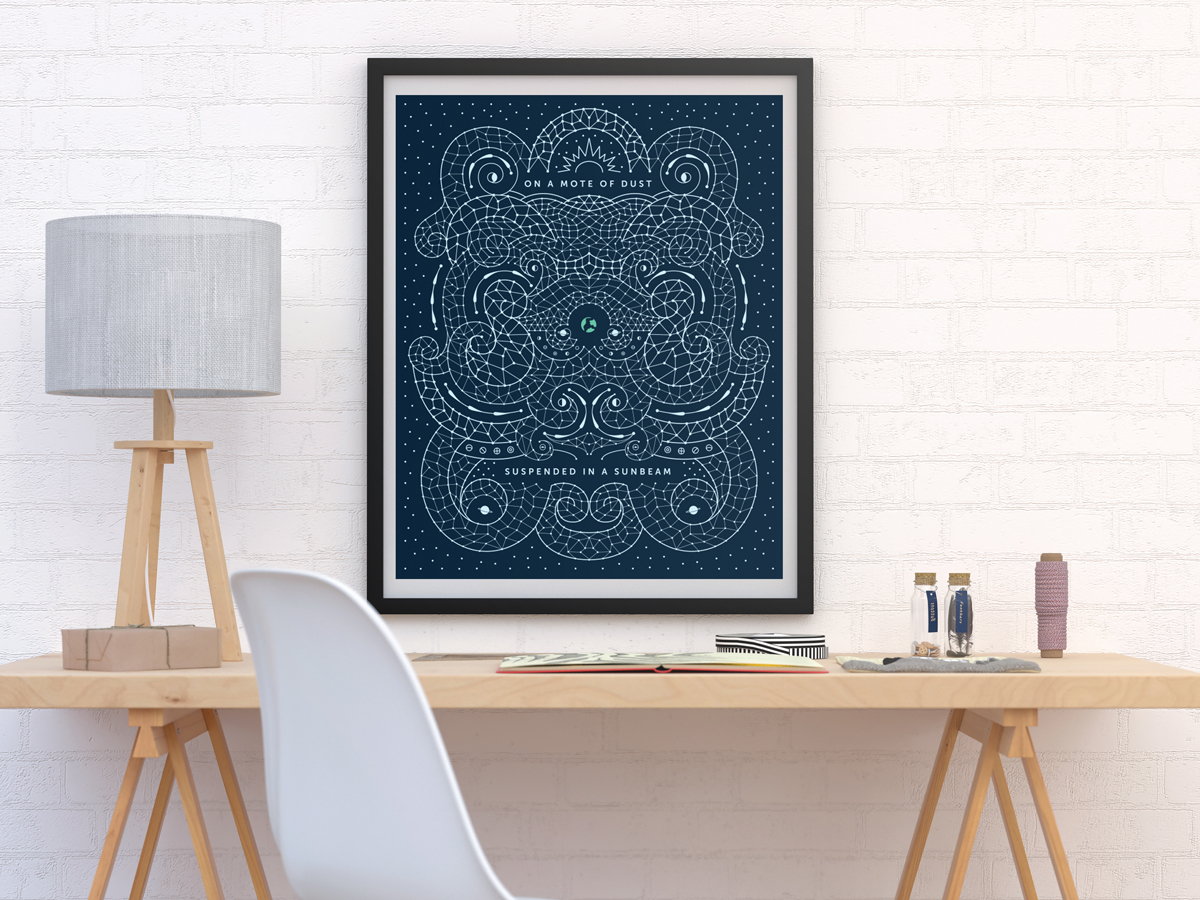 The perfect gift for a Carl Sagan fan and a Cosmos buff. This print features Carl Sagan's famous Pale Blue Dot quote. It's also a great way to introduce a Neil deGrasse Tyson fan or a Stephen Hawking fan to another wonderful astronomer that they're sure to appreciate.
