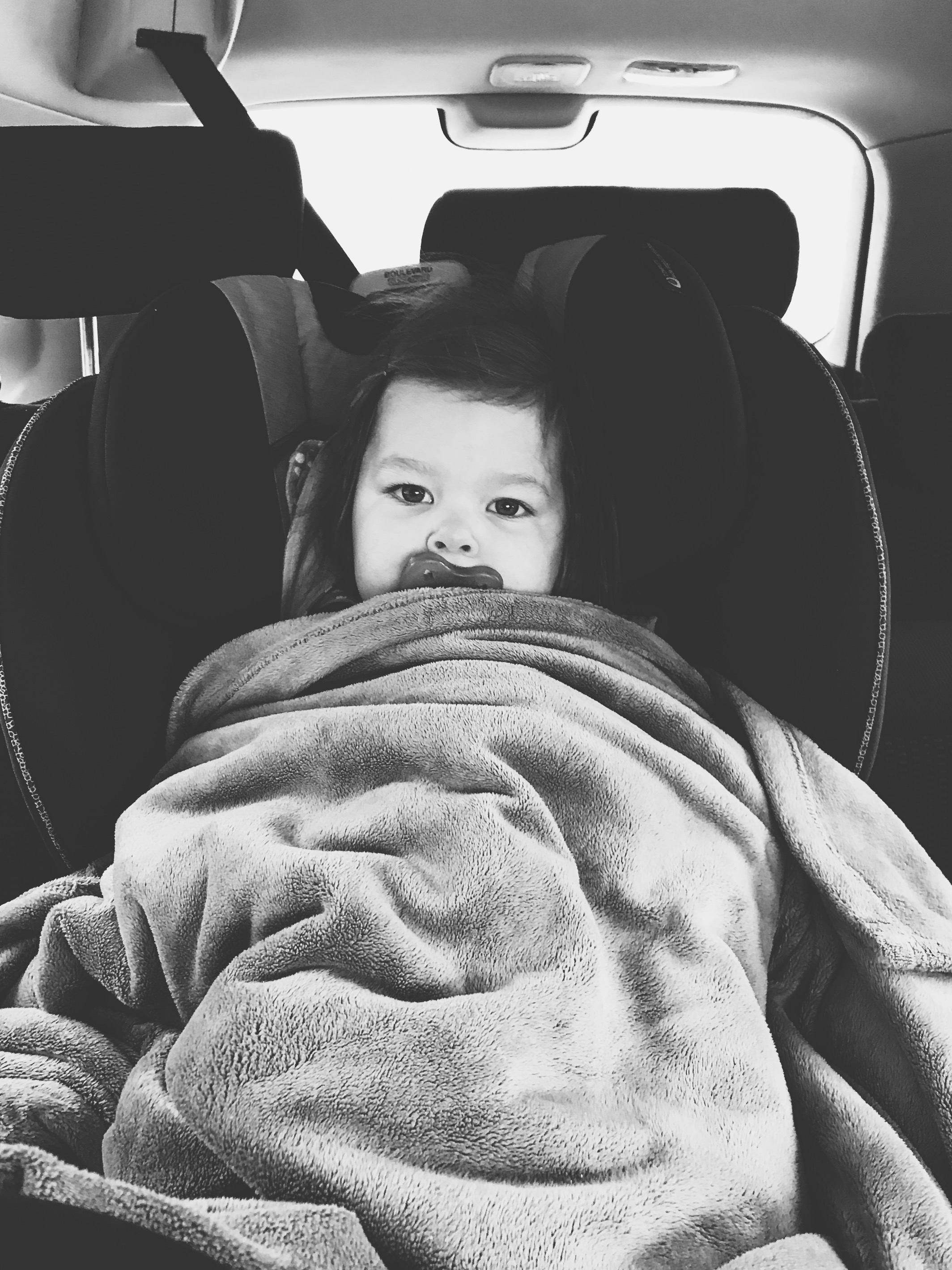 We are still trying to figure out how to keep warm enough in the car as they're not supposed to wear puffy jackets in the car seat