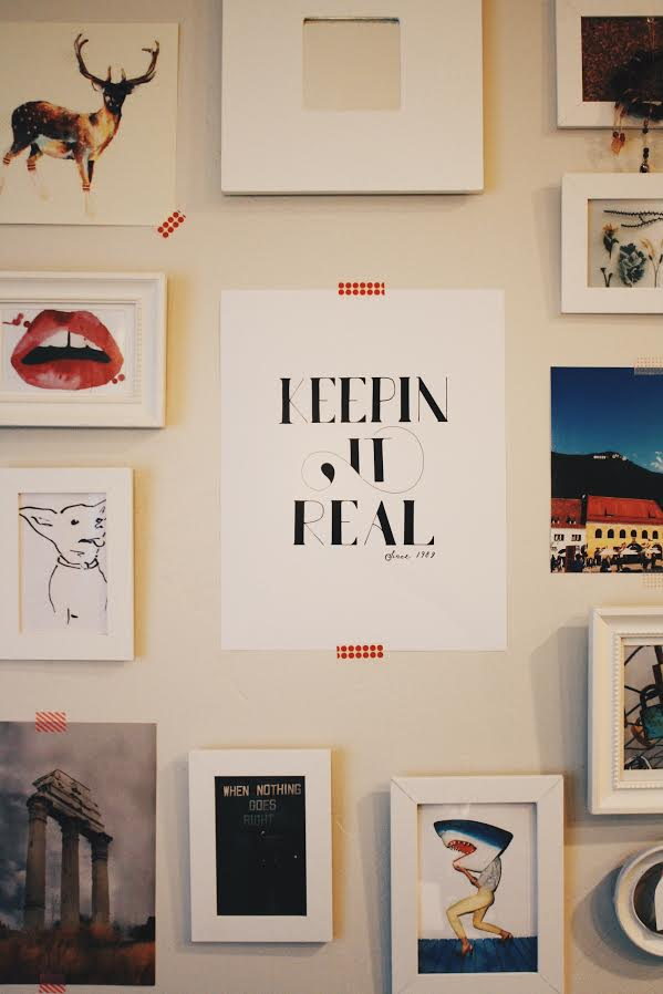 """Above is the print we desighned for E_AND_ELLE. We can not thank them enough for """"Keepin it Real"""" on Be Bona•Fide. We might be biased towards this print, because not only were they both born in 1989, but so was Laura and I! Give it up for 1989ers!    Go read more about Elise and Elle at www.eandelle.blogspot.com!"""