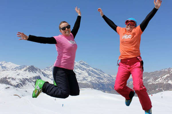 Living it up in the French Alps, April 2014