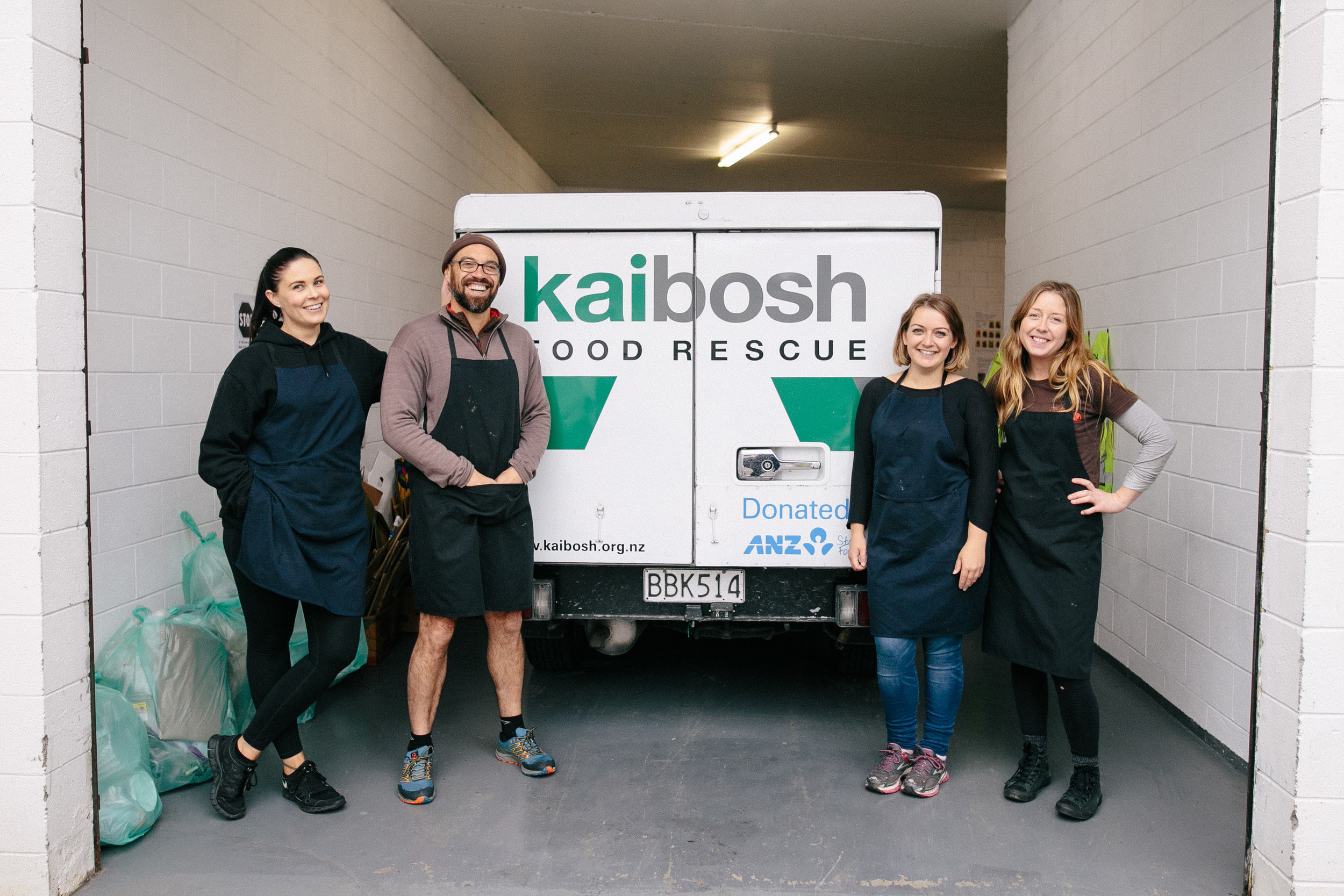 (From left): Hayley Osborne, Marty Andrews, Natalie Verner and Dee Corcoran wind up for the day after another very busy Kaibosh shift