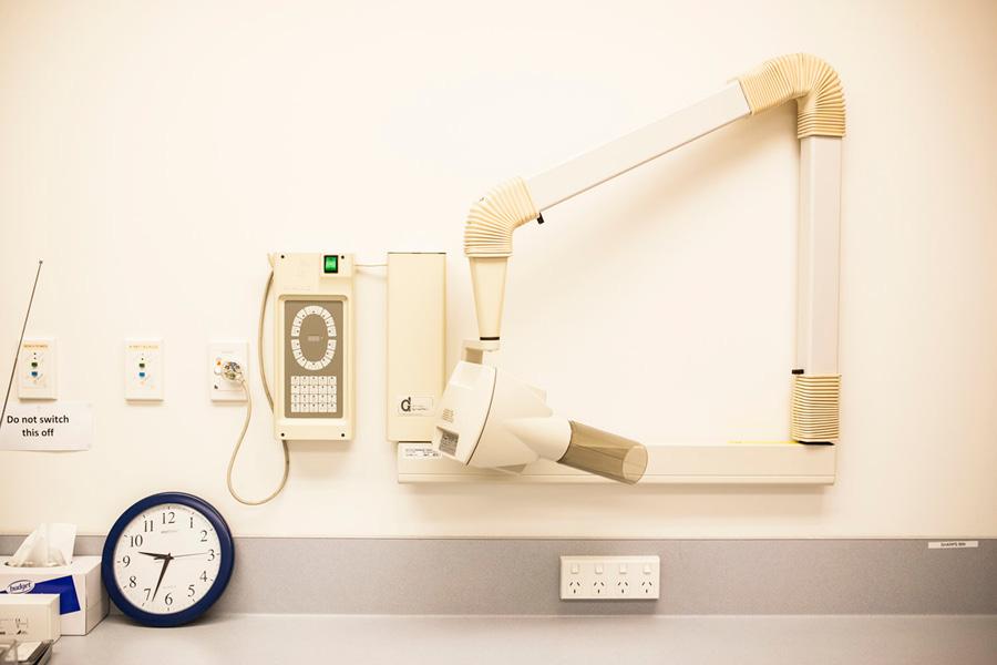 The DCM Dental Service's X-Ray machine donated by NZDA Wellington Branch
