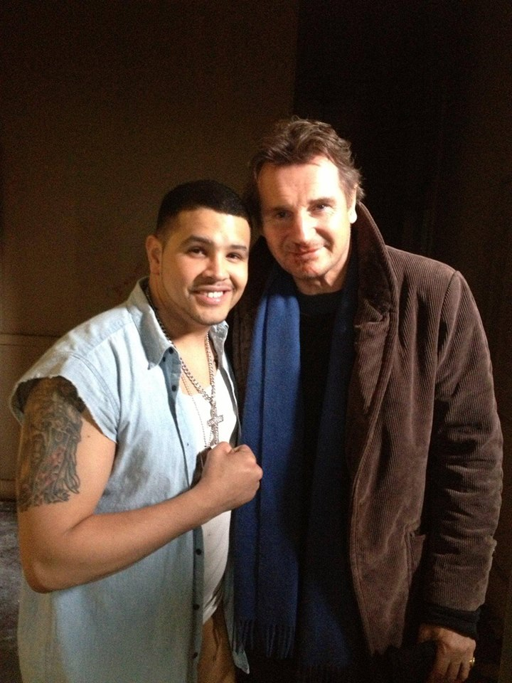 Liam Neeson and Mike Figueroa