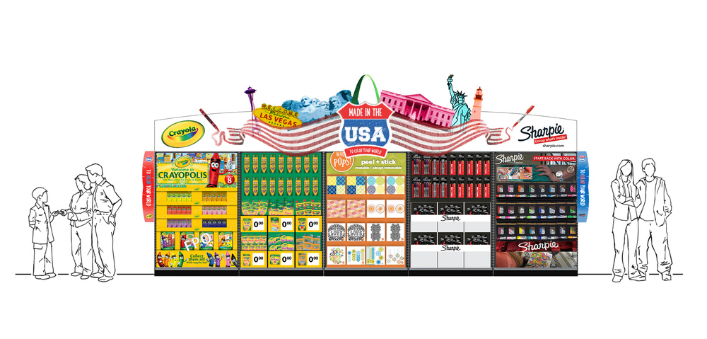 Crayola & Sharpie Header Design for Walmart