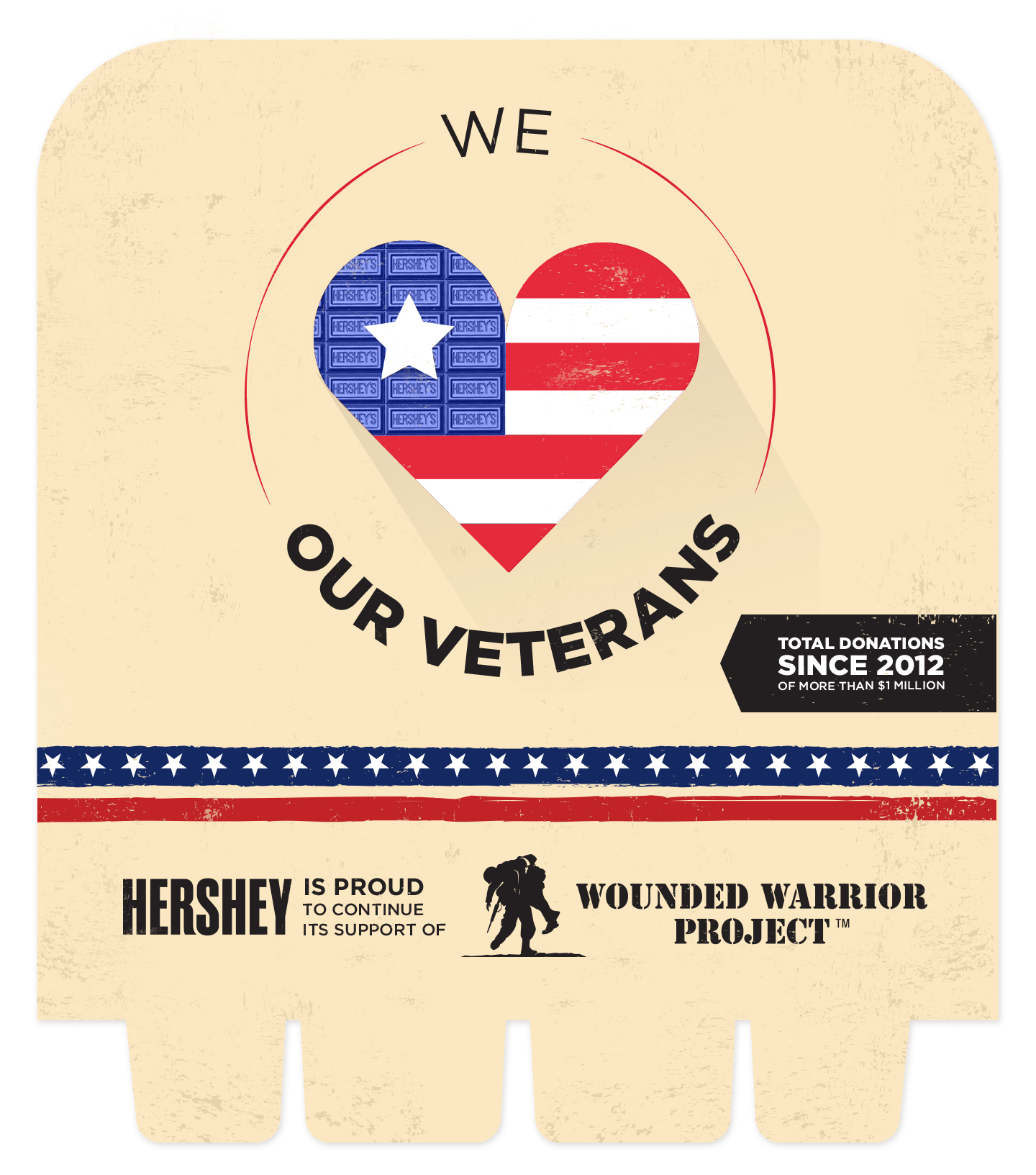 Concept for Hershey's and Wounded Warrior Project. This concept was selected and produced.