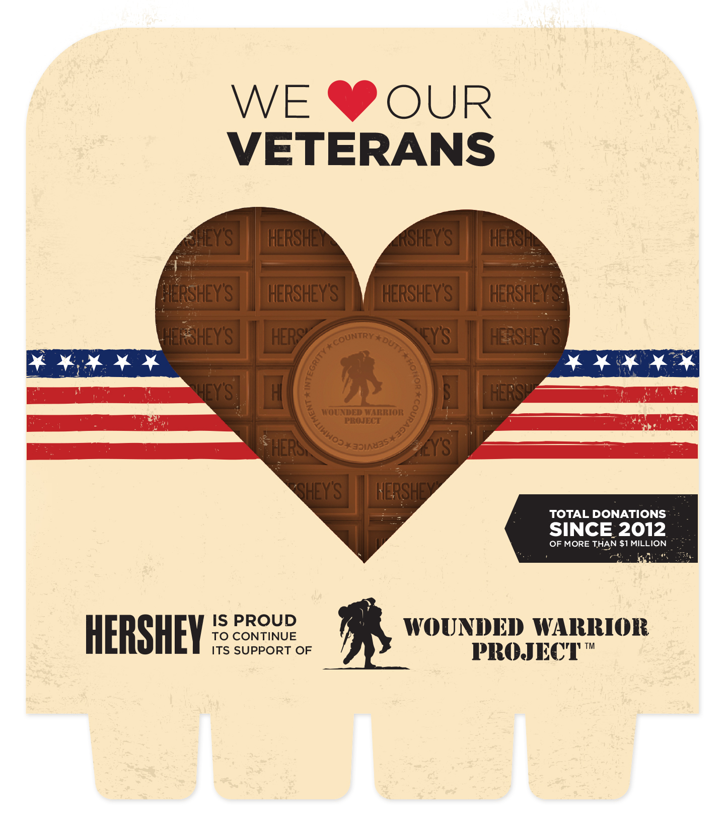 Concept for Hershey's and Wounded Warrior Project.