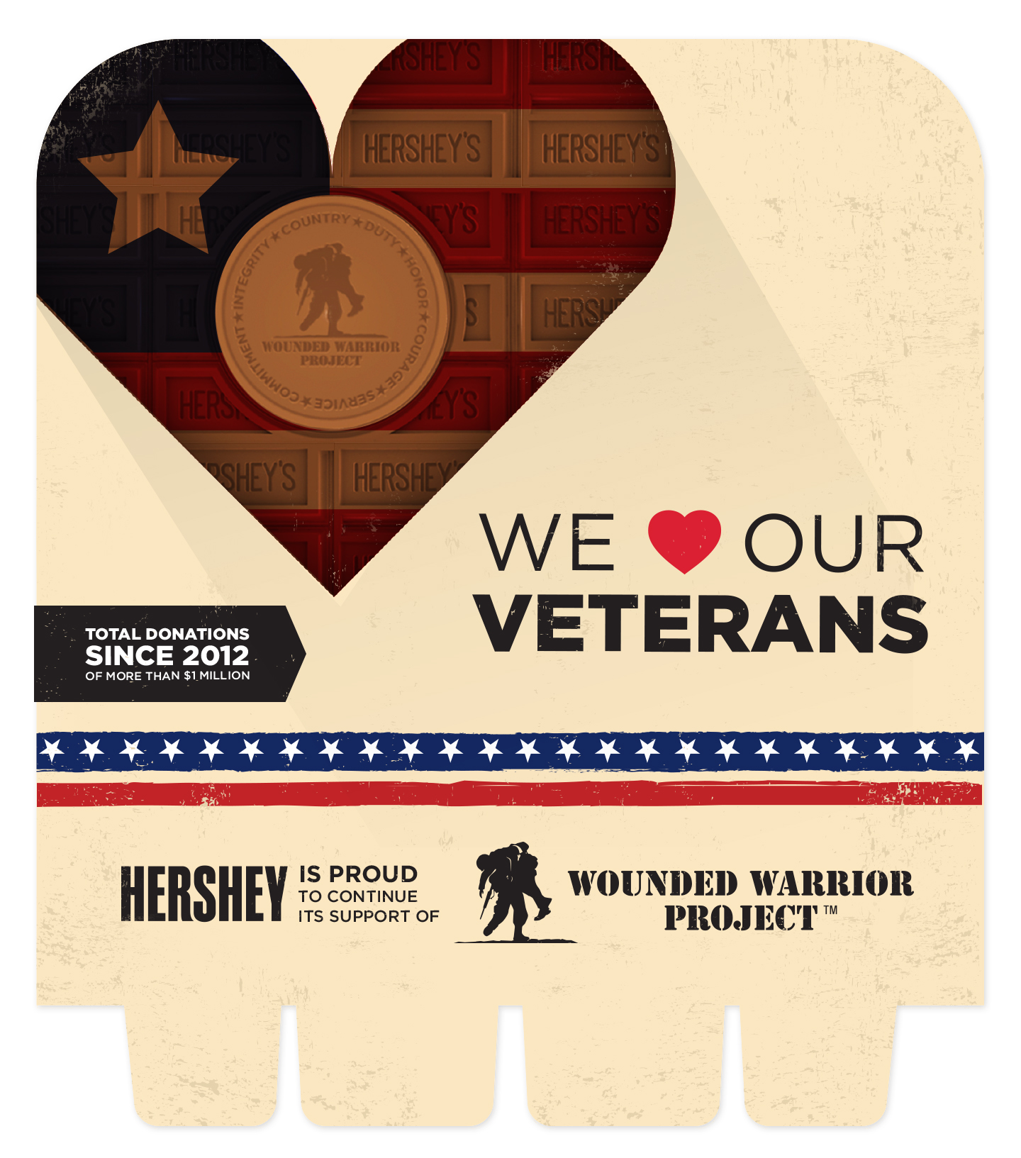 Concepts for Hershey's and Wounded Warrior Project.