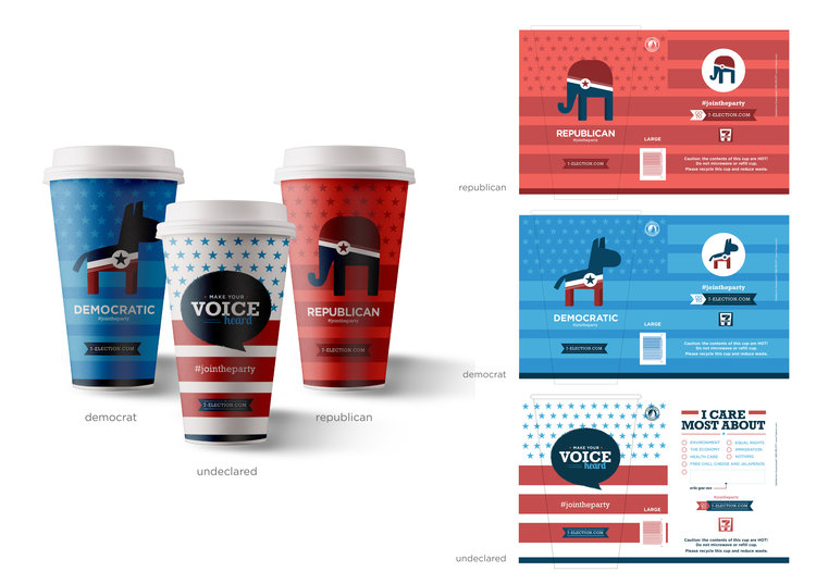 Concept for 7-Eleven Election Cups