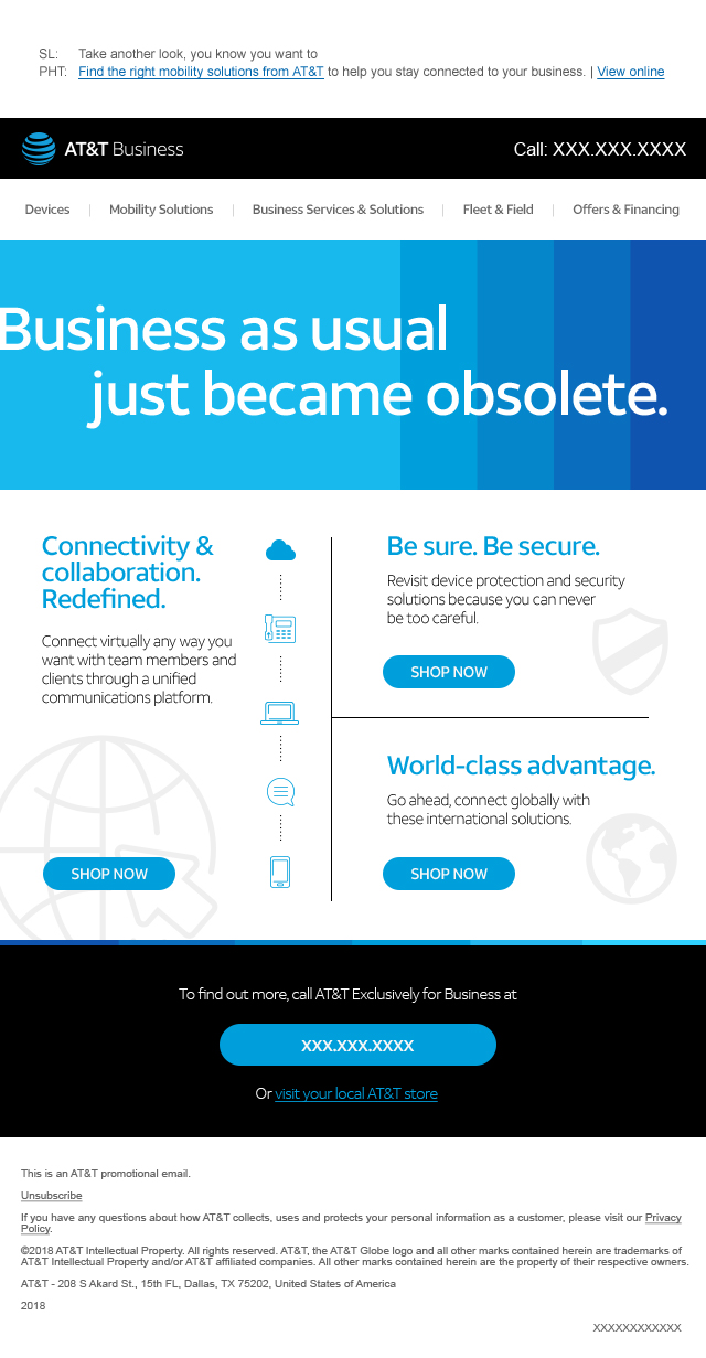 Shop Now - Offers from AT&T Business.