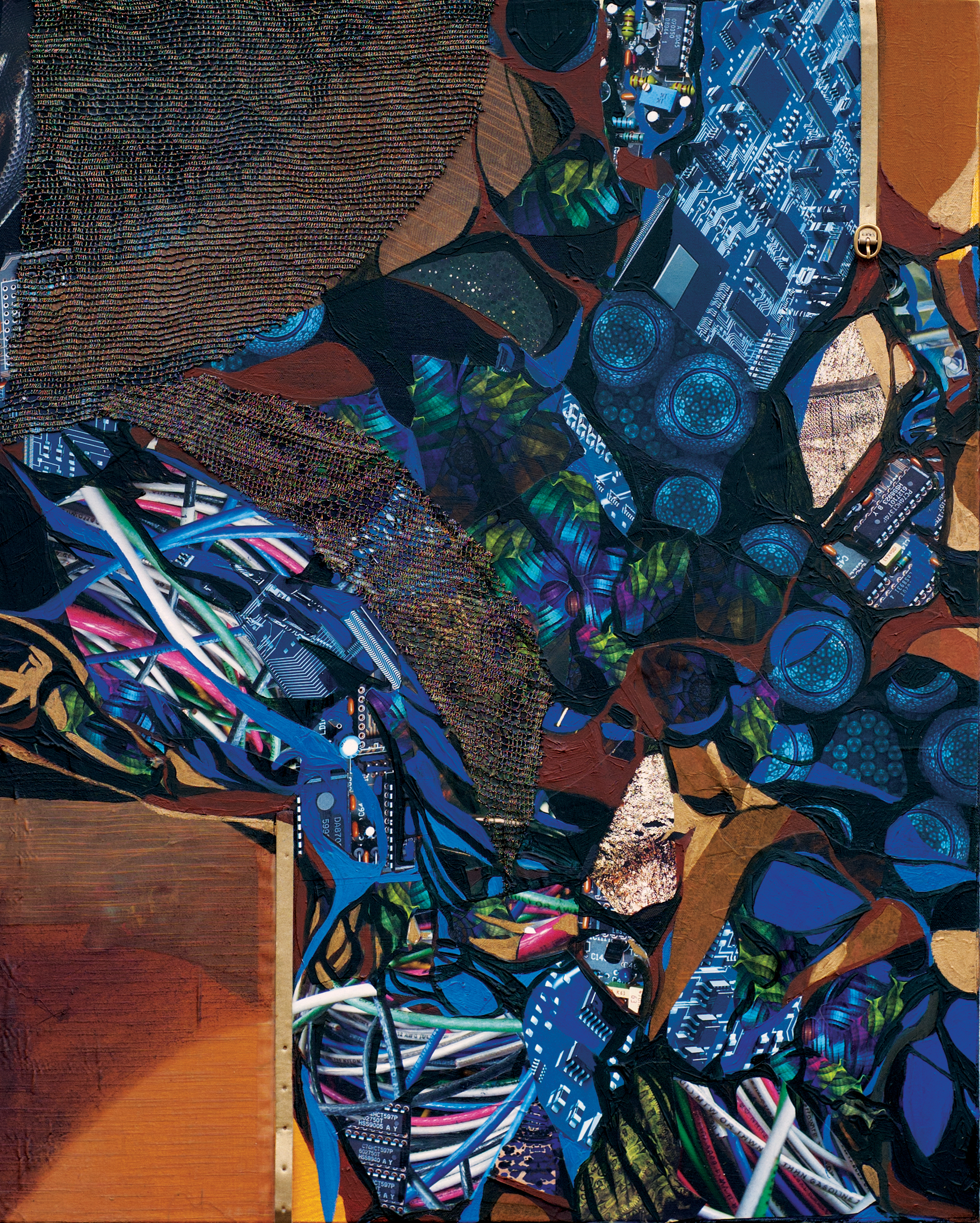 "Я20   Oil and Mixed Media on Canvas  24"" x 30"", 2012"