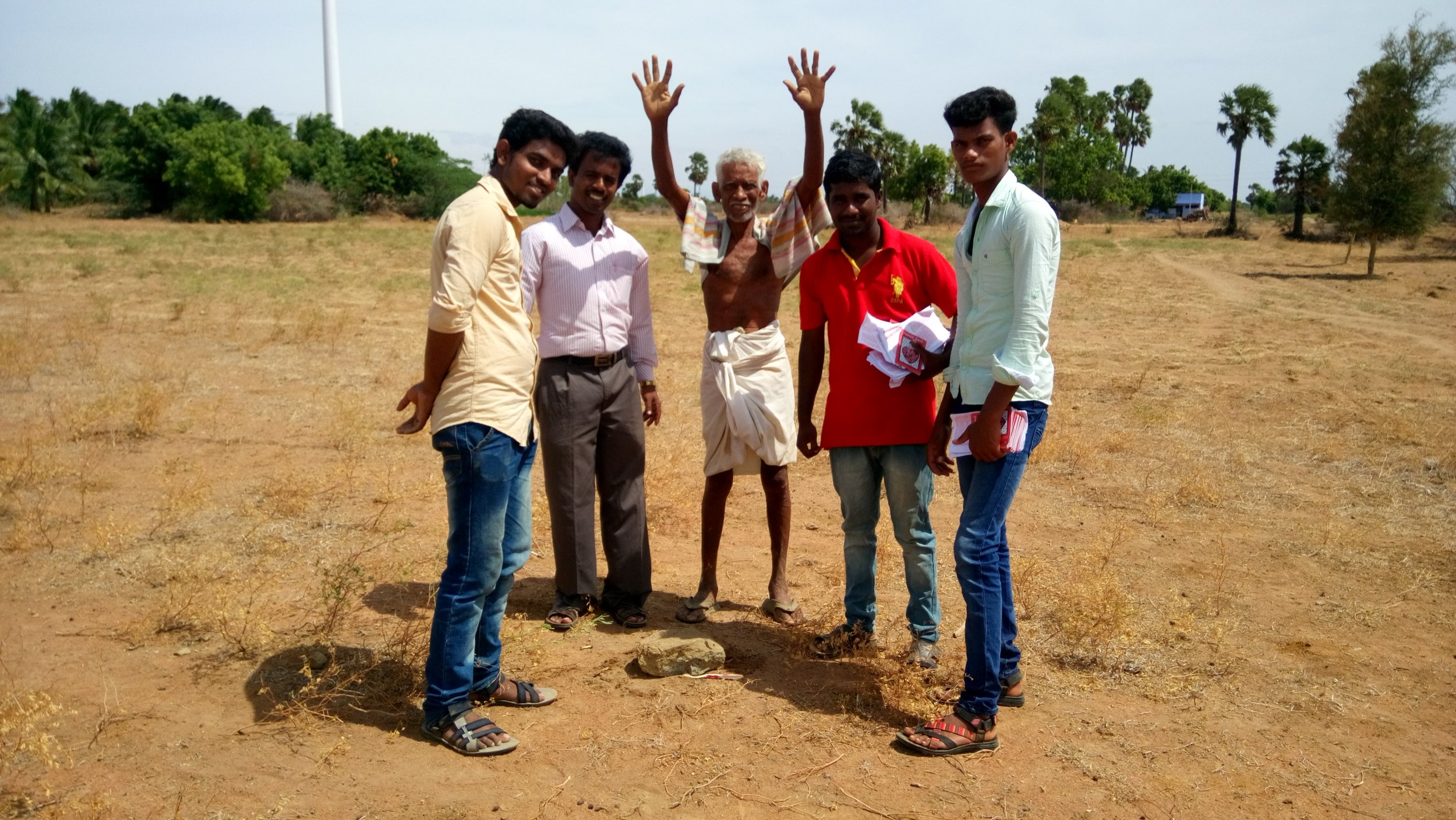 Laid stone for church in a Hindu Village.JPG
