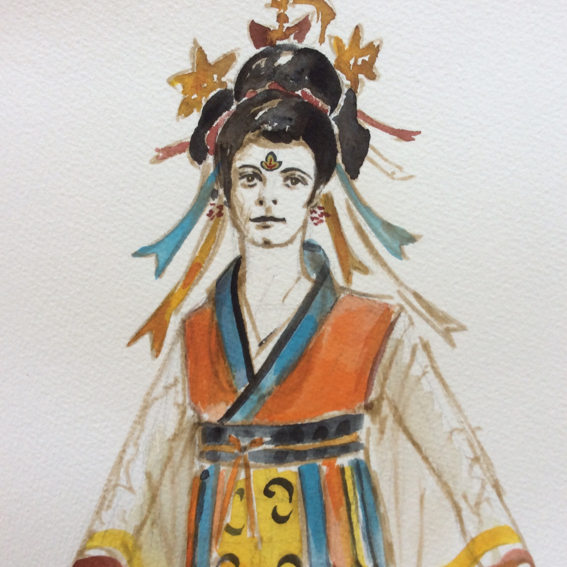 Turandot - PUCCINImaquette for a handmaid (detail)watercolor2003