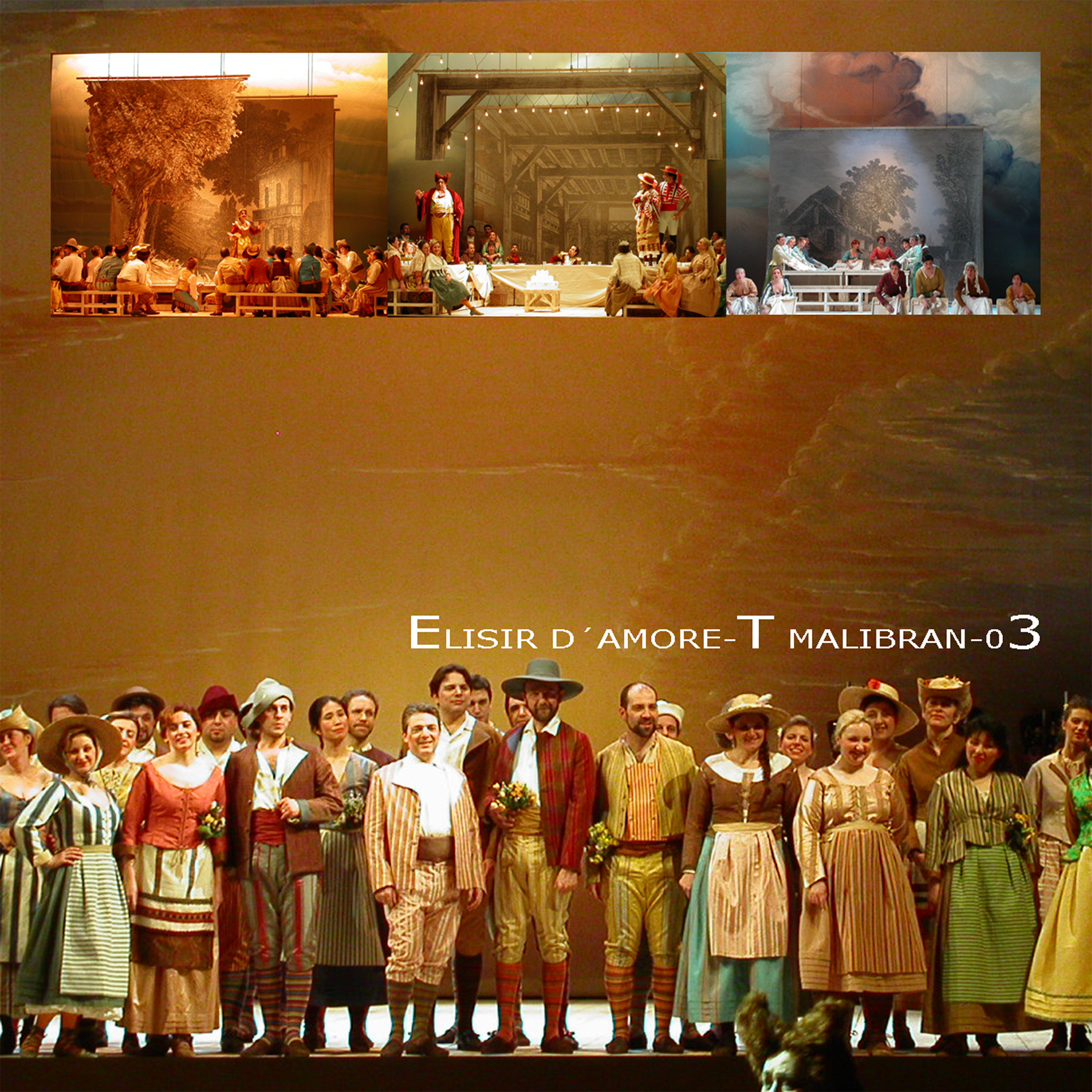 elisir d'amore - DONIZZETTIset and costume, assistant of G. M. FercioniDirected by G. Morassi   Theatre Malibran and Theatre La Fenice, Venezia ItalyVenezia,   still on stage since 2003