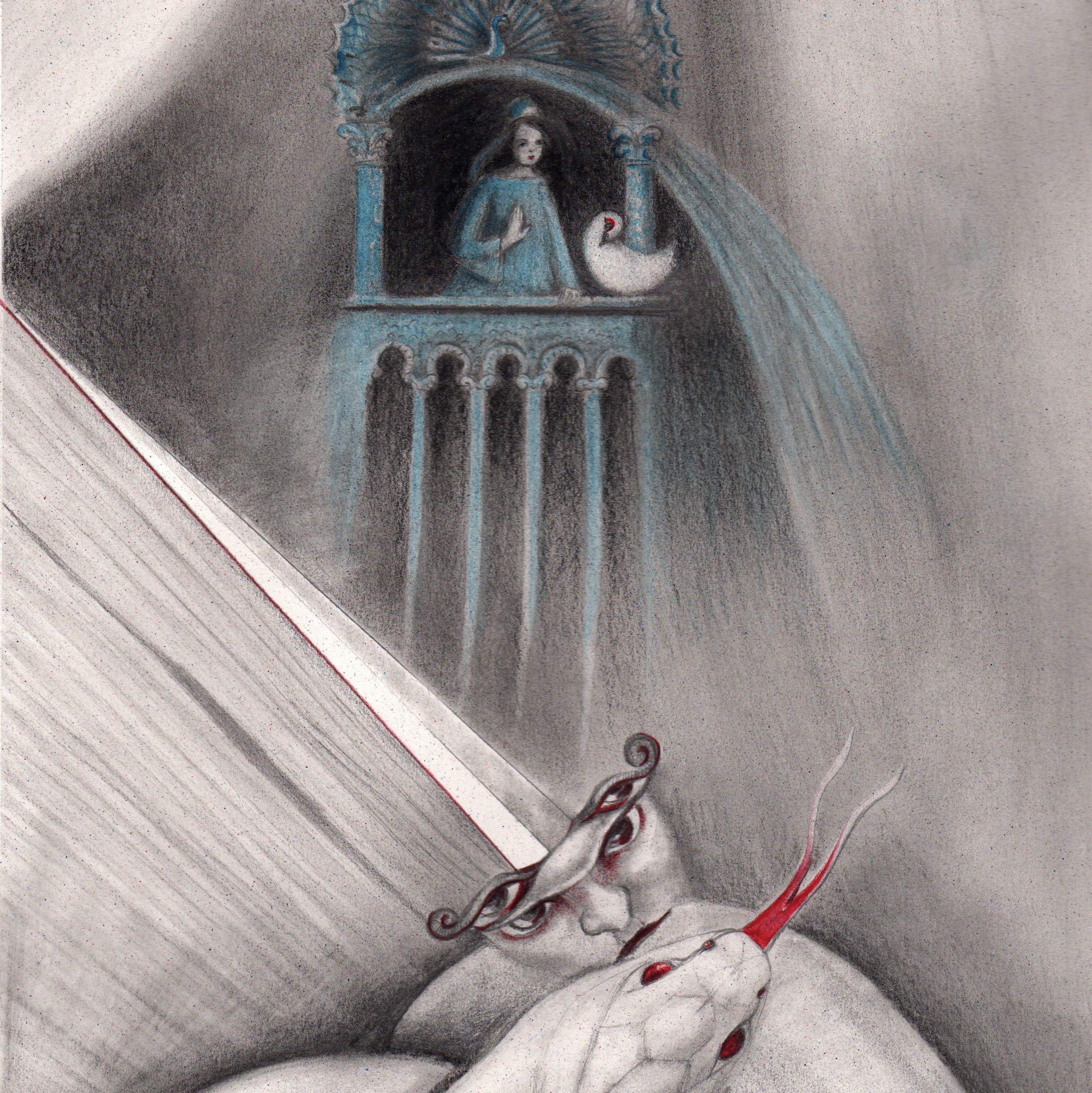 the bride of the spring - Armenian tale written by Sonya OrfalyanPencil Drawing2016