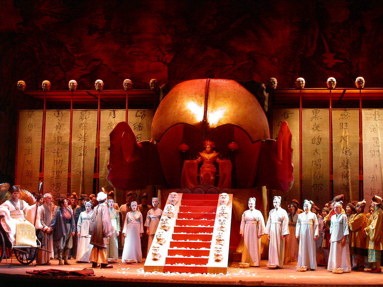 Turandot - my design of set and costume,Directed by Jerome Savary Theatre of Saint Gallen, Switzerland