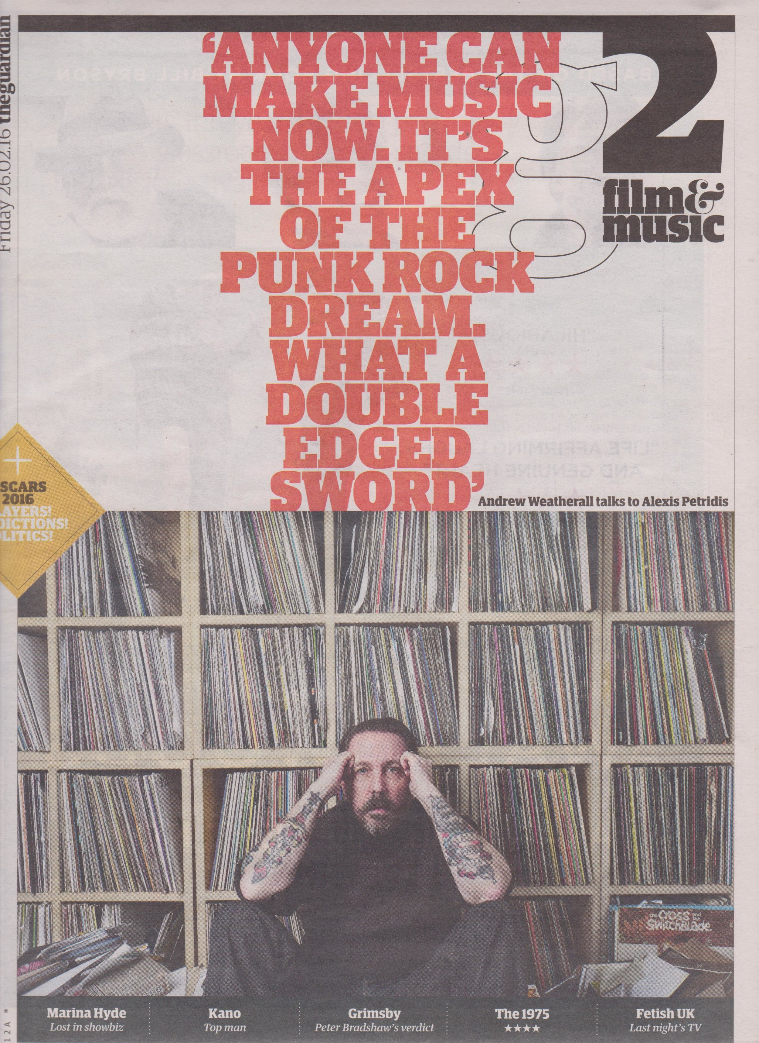 Andrew Weatherall - The Guardian G2