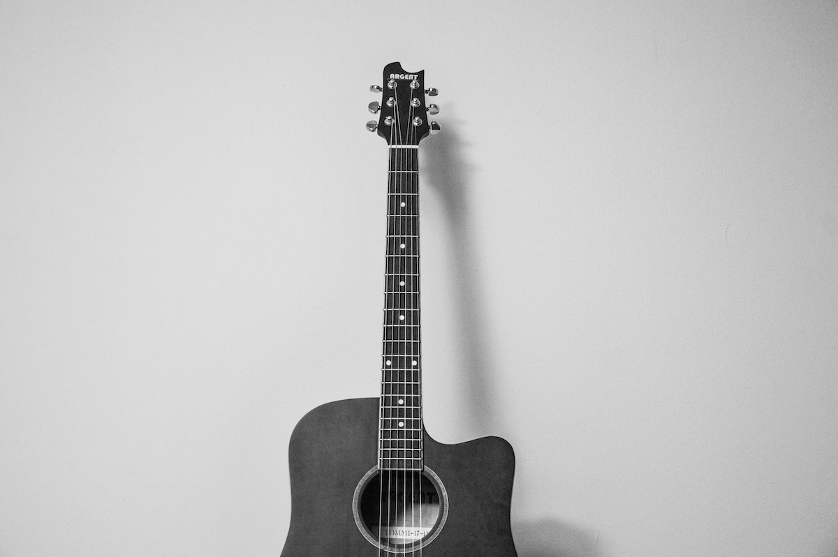 Guitar (image accompanying an article about the key things you must do when releasing an album independently)