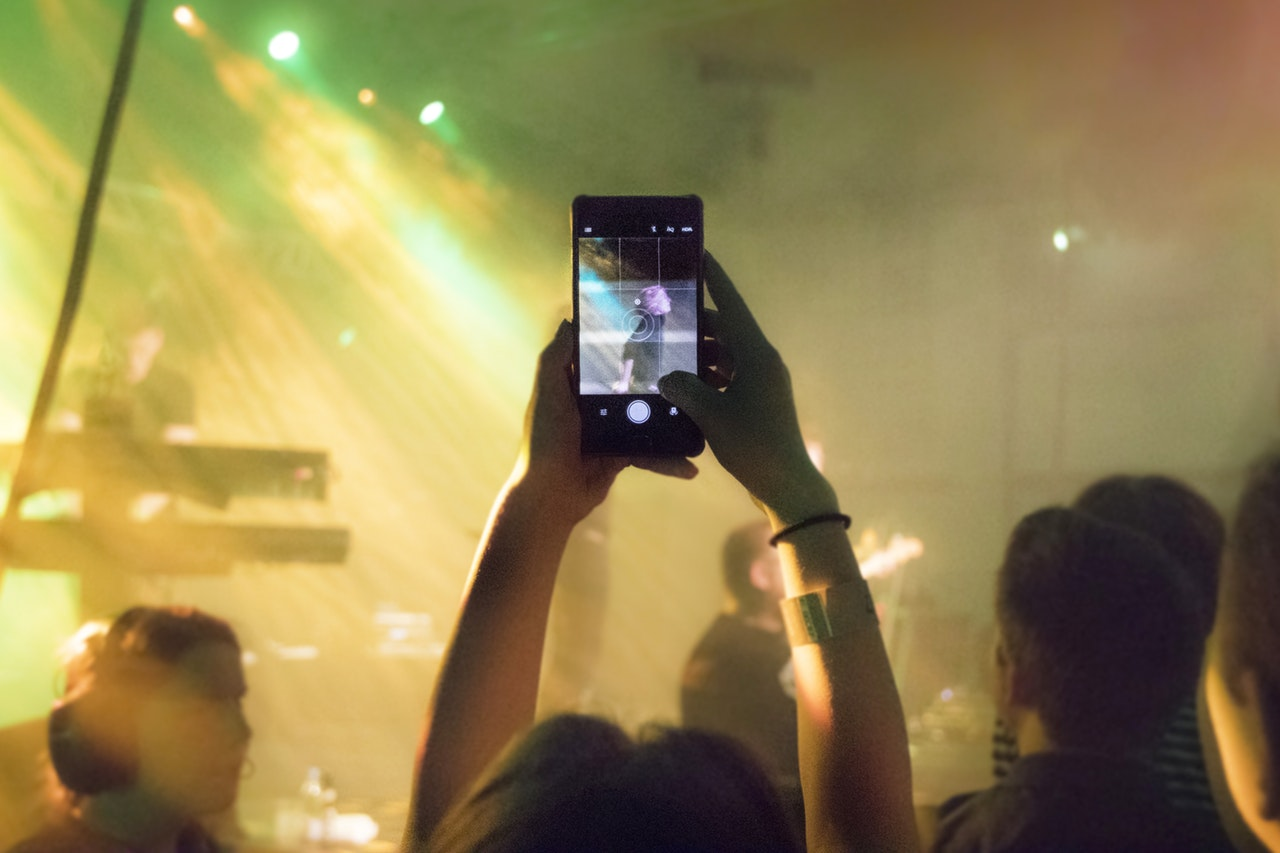 Smartphone at a gig