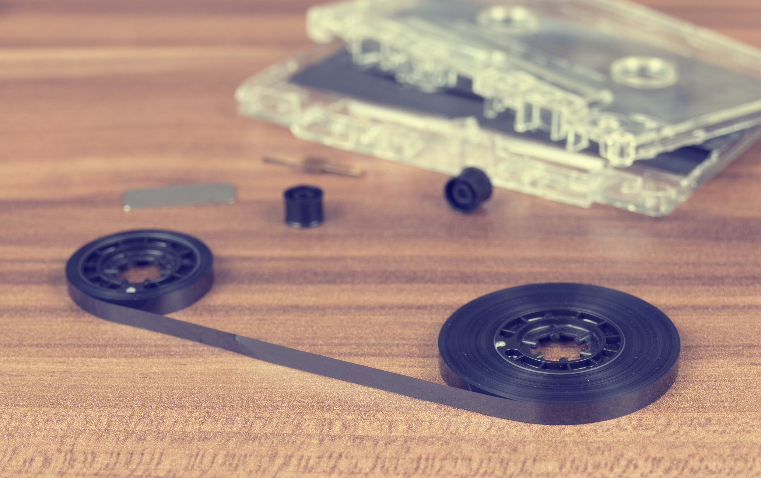 Cassette tape - accompanies article about album promotion