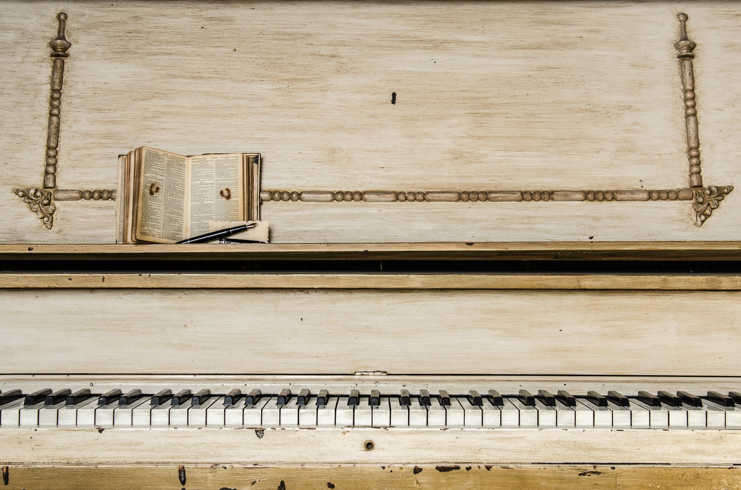 Music publishing - image of a piano with a songbook resting on it