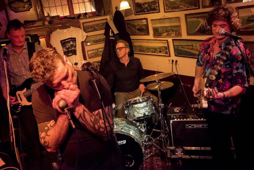 foto: Han van Oosten, Blues Tour Groningen, cafe Mulder, februari 2015