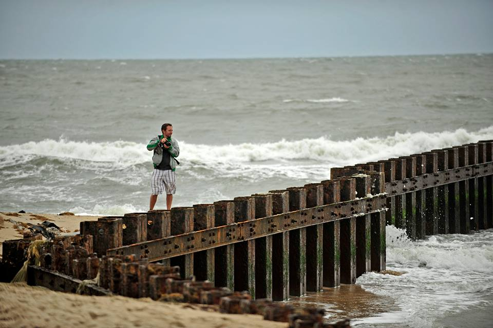 Danger scoping out the best 'vantage' point in the Outer Banks (Cape Hatteras Beach)