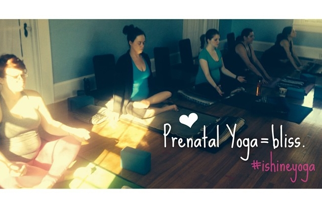 Class sizes are kept small -no more than 6 mammas. This helpsensure that everyone receives the support and nuturing they deserve as they foster a space for new-life. For information on the next series - please visitishineyoga.com.