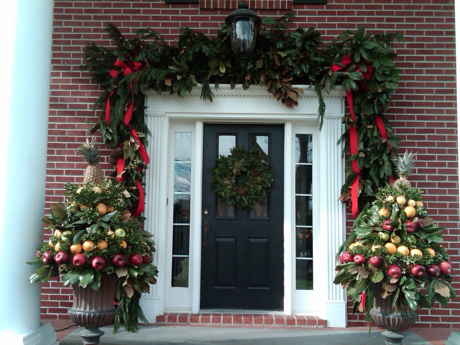 exterior-architecture-rich-and-beauty-christmas-decorating-ideas-for-rustic-front-porch-ideas-with-black-half-glass-entry-doors-added-wreath-as-well-as-brick-wall-facade-designs-.jpg