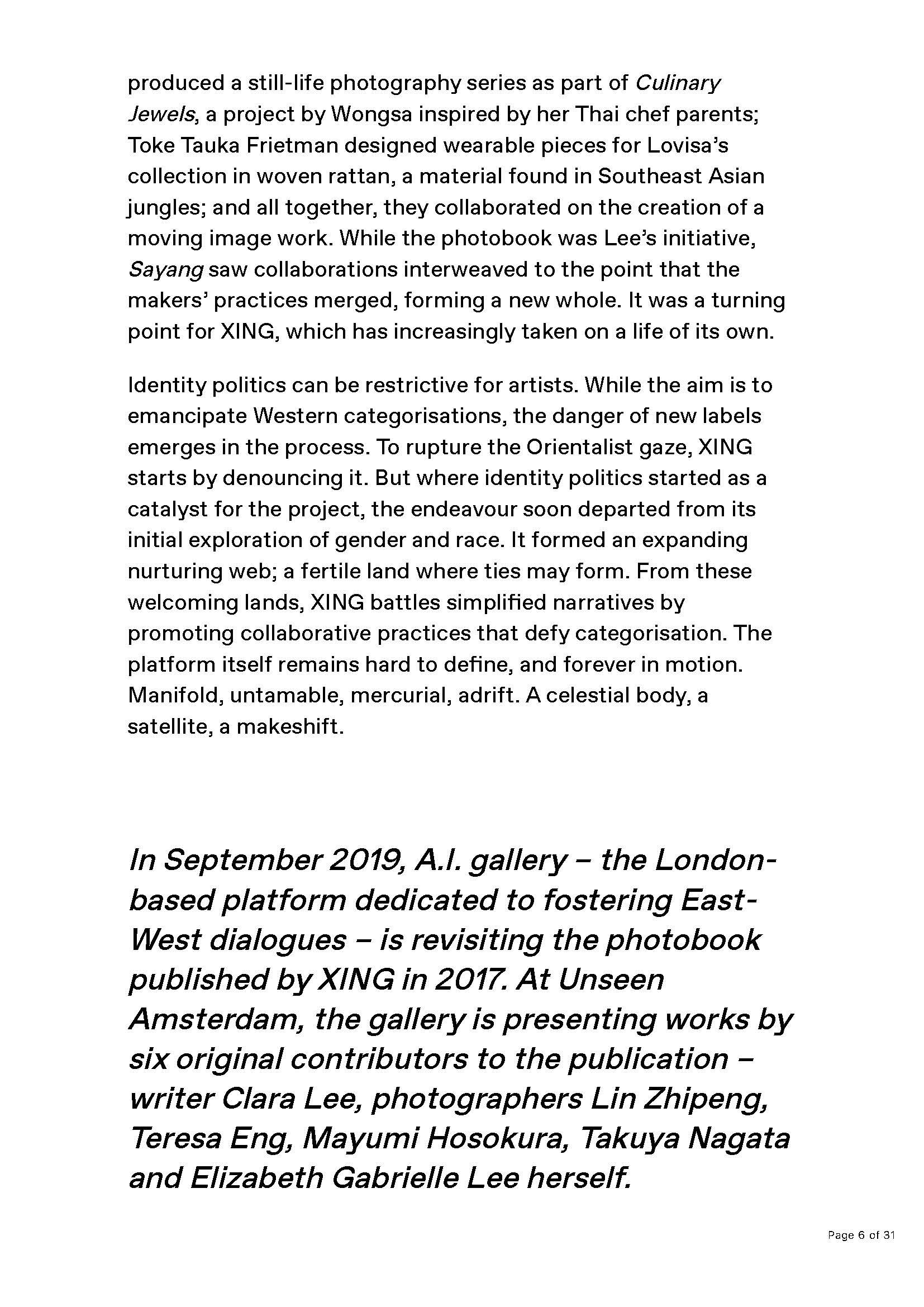XING by Jade Barget, Unseen Amsterdam 2019, A.I. Gallery. Elizabeth Gabrielle Lee. News _Page_06.jpg
