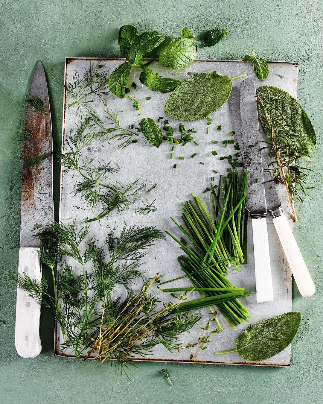 Chopping Herbs - Kasia Sykus ©