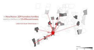 Learn where homeless families come from. - Family homelessness is closer to you than you might think. Families in Connecticut shelters come from all over our state. Visit this article by the Connecticut Mirror for an interactive map showing what homeless families who enter the shelter system listed as their town of last residence.