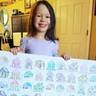MALLORY   100 days is a long time! Mallory is a kindergarten student in the Hartford area who loves to help people and loves to color. For her 100th day of school,  for each of the first 100 dollars she raised for be homeful she colored in a house  and then add it to her posterboard display. Click here to read Mallory's story!