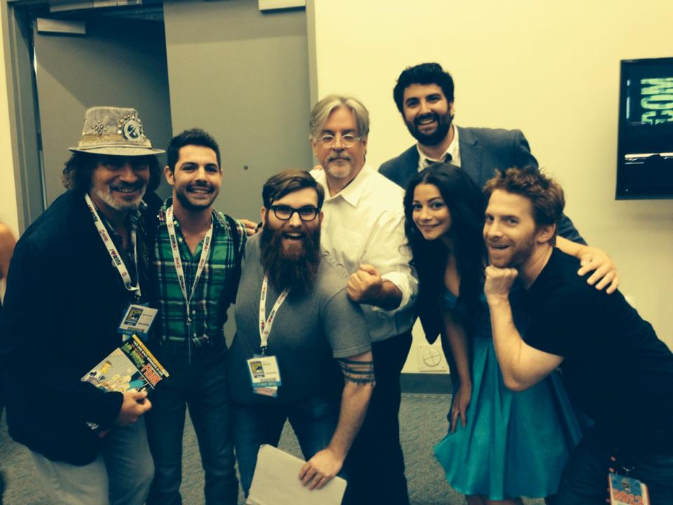 Will and the cast of We Put the Spring in Sprinfield! with Matt Groening, Seth Green, and David Silverman