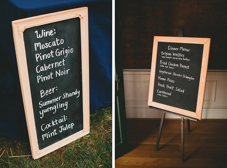 Fried Chicken and Waffles Wedding Reception