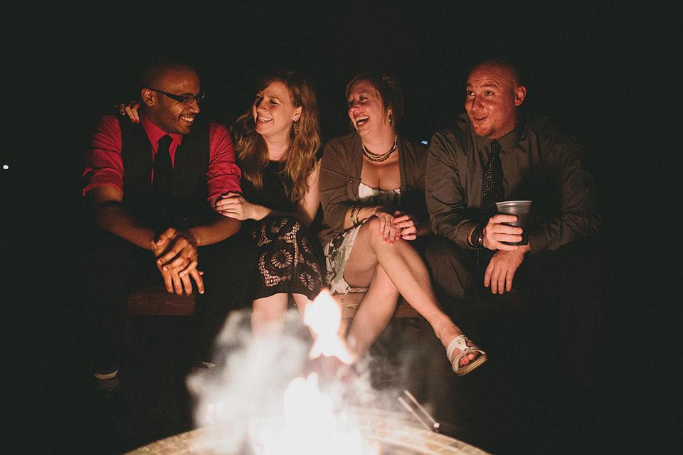 Bonfire Outdoor Wedding Reception Cincinnati