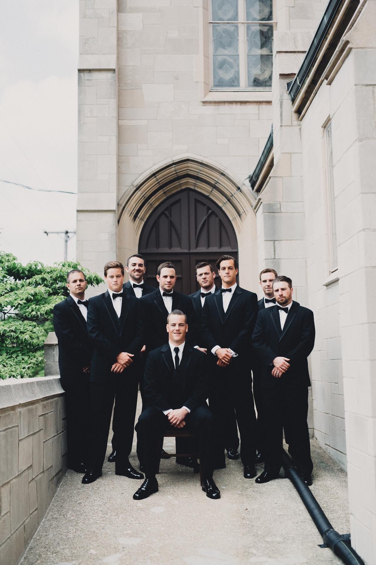 Black Tie Wedding Groomsmen