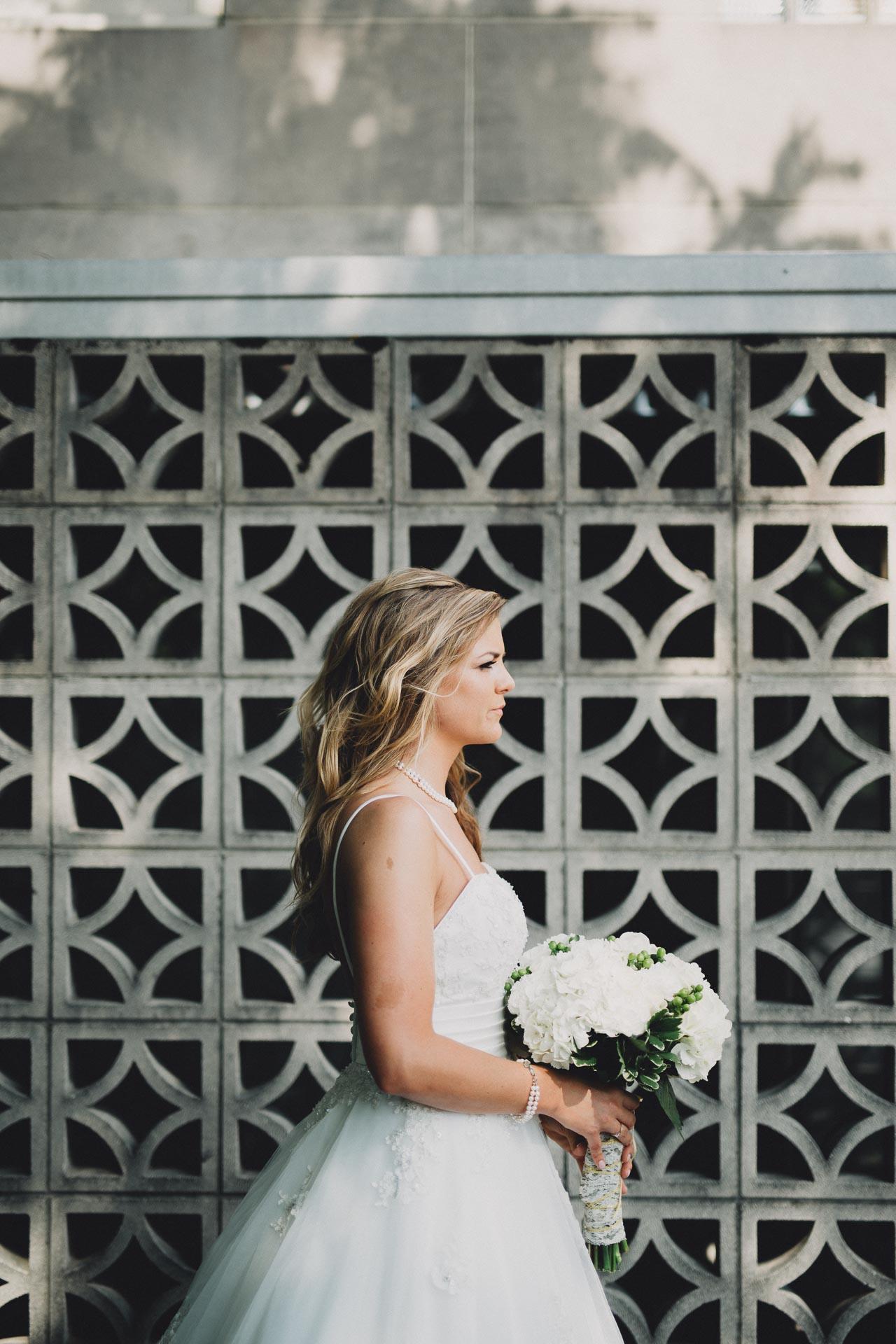 Mid Century Modern Bridal Portrait Stunning Dayton Ohio Wedding