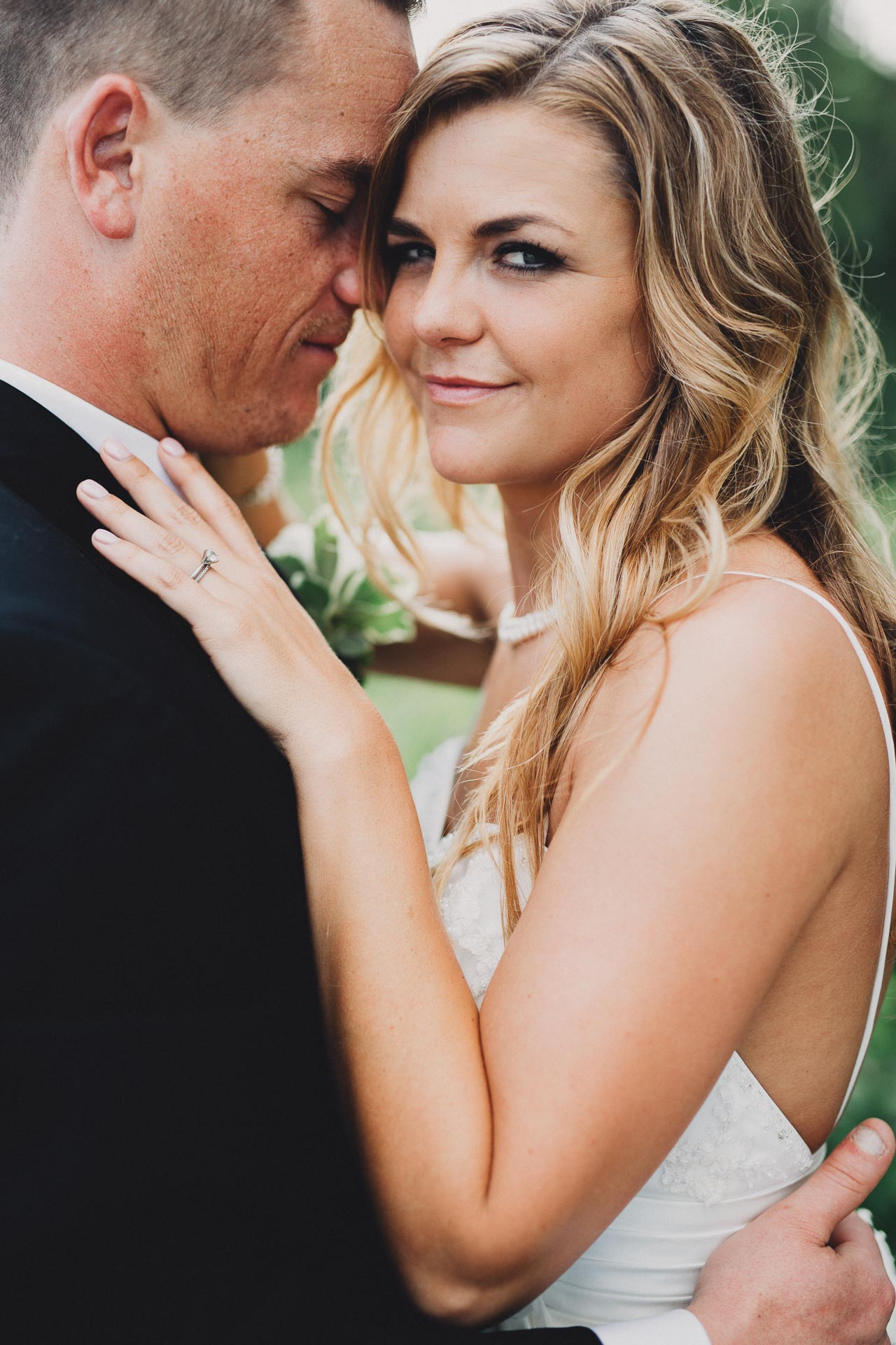 Stunning Natural Light Bride and Groom Portrait