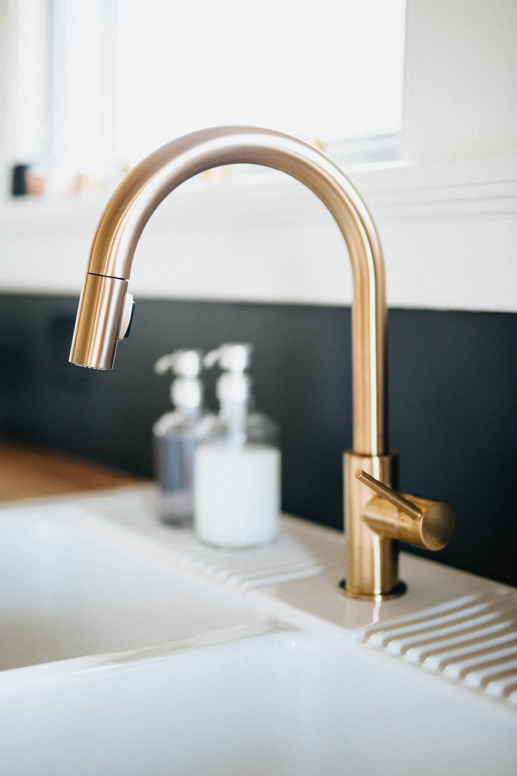 Modern Kitchen - Gold Faucet