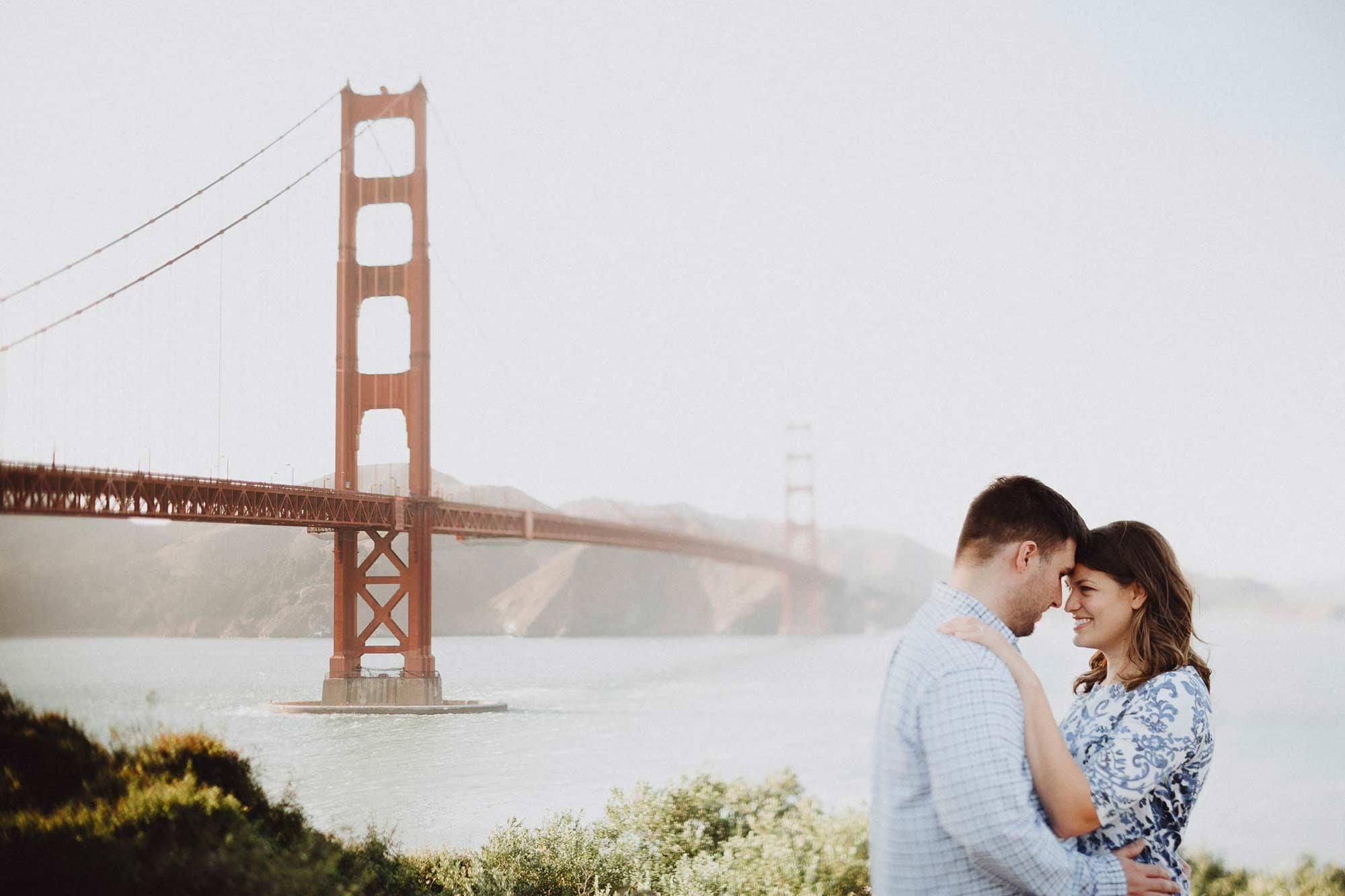 San Francisco Golden Gate Bridge Engagement Photo