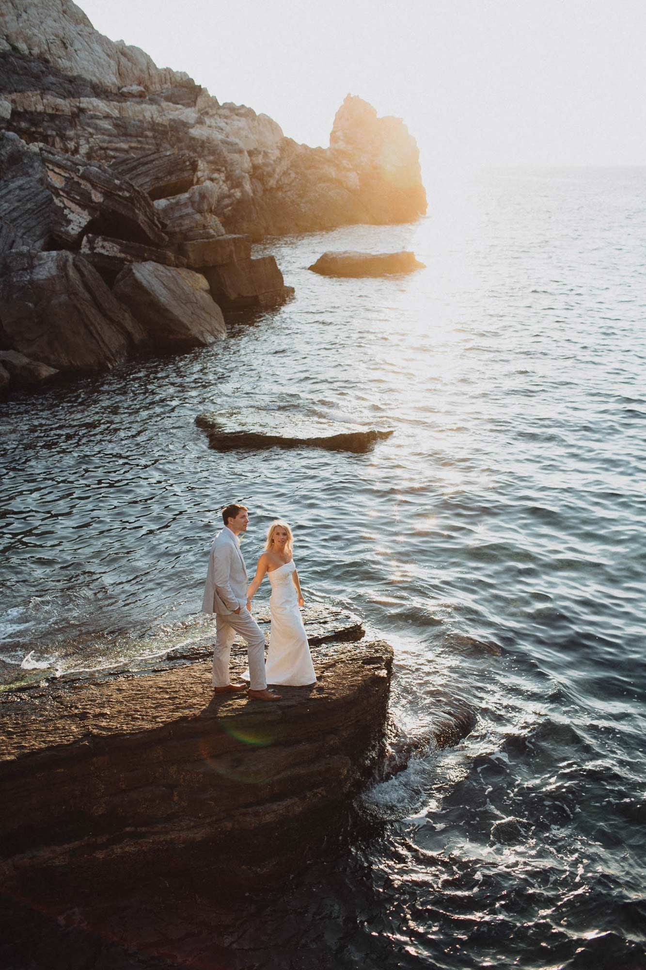 Destination Italy Elopement Photography - Mediterranean Sea Coast