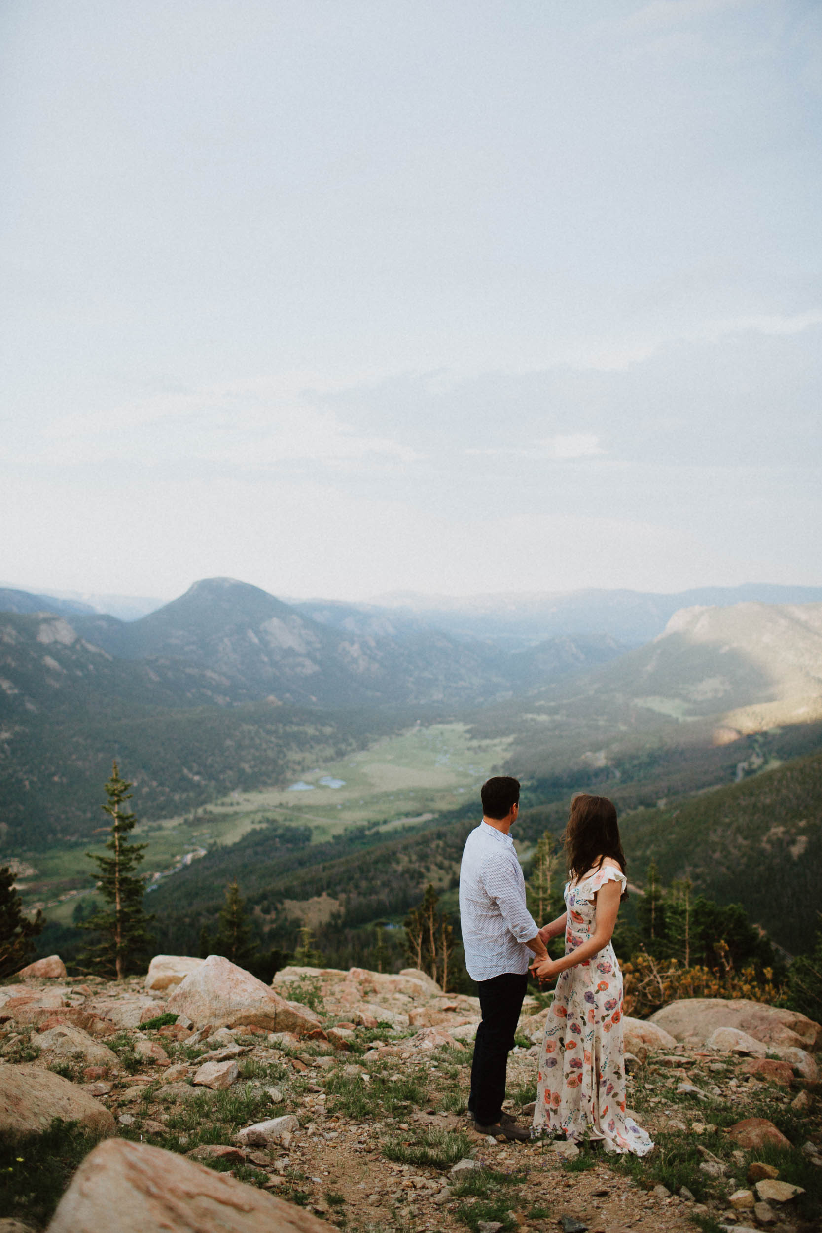 Rocky Mountain National Park Adventure Engagement Session Denver Colorado