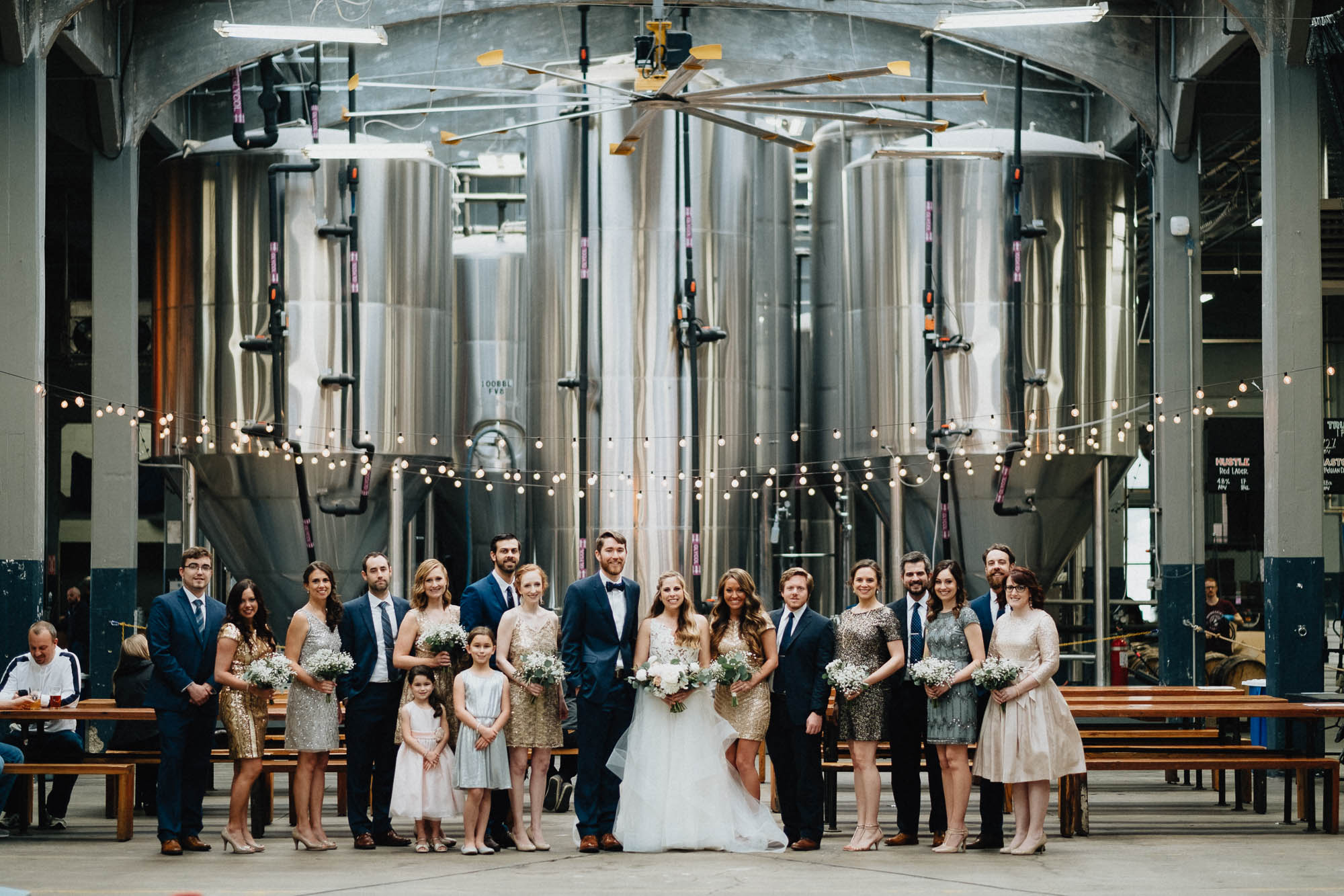 Rhinegiest Brewery Wedding Bridal Party Cincinnati Ohio