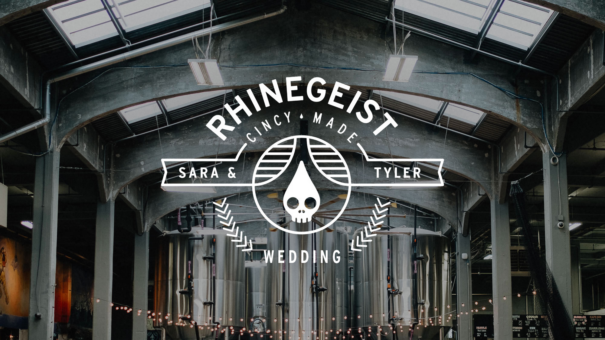 Photos of Sara and Tyler's wedding at the Rhinegiest Brewery in the Over the Rhine neighborhood of Cincinnati Ohio