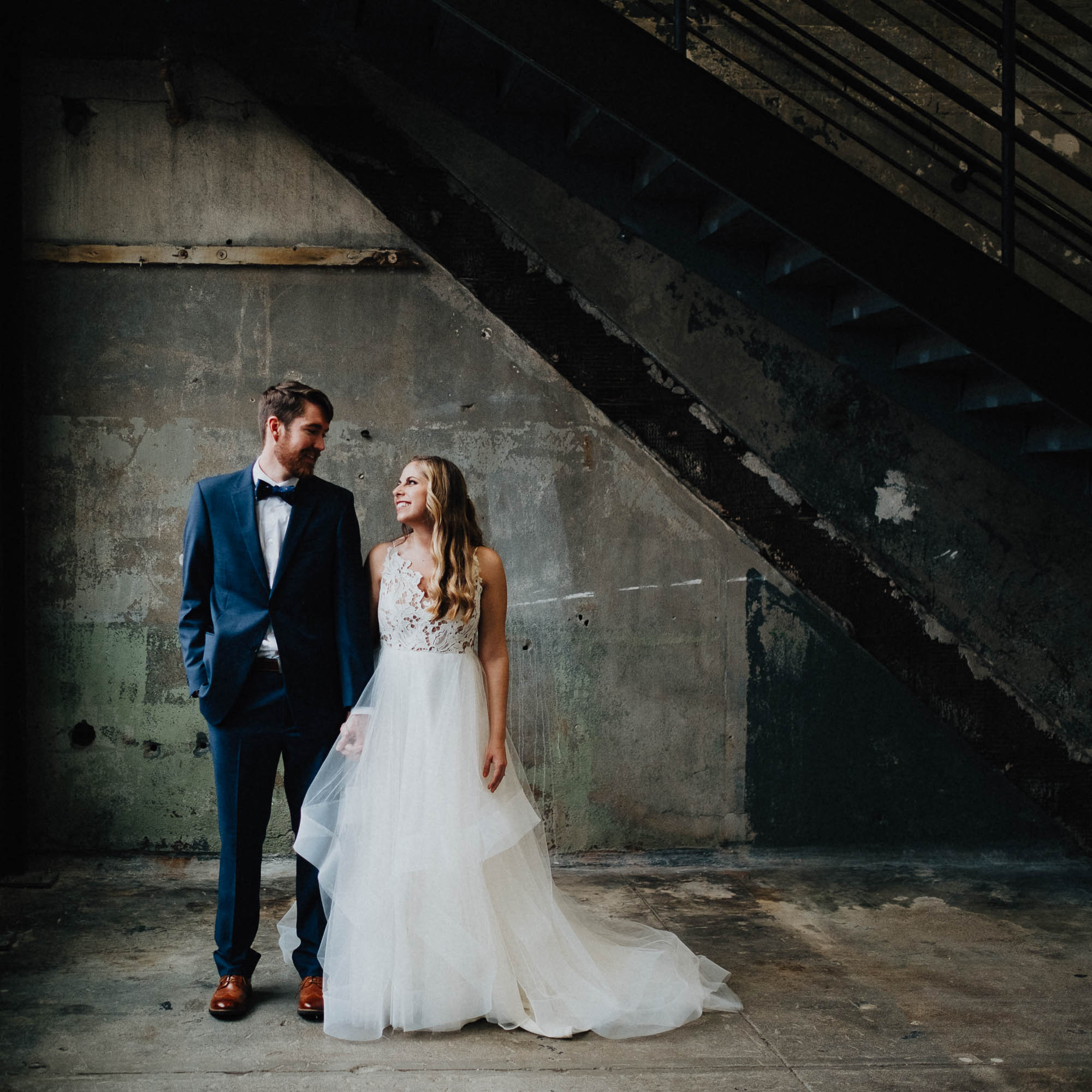 Sara + Tyler got married at the Rhinegiest Brewery in the Over the Rhine neighborhood of Cincinnati Ohio