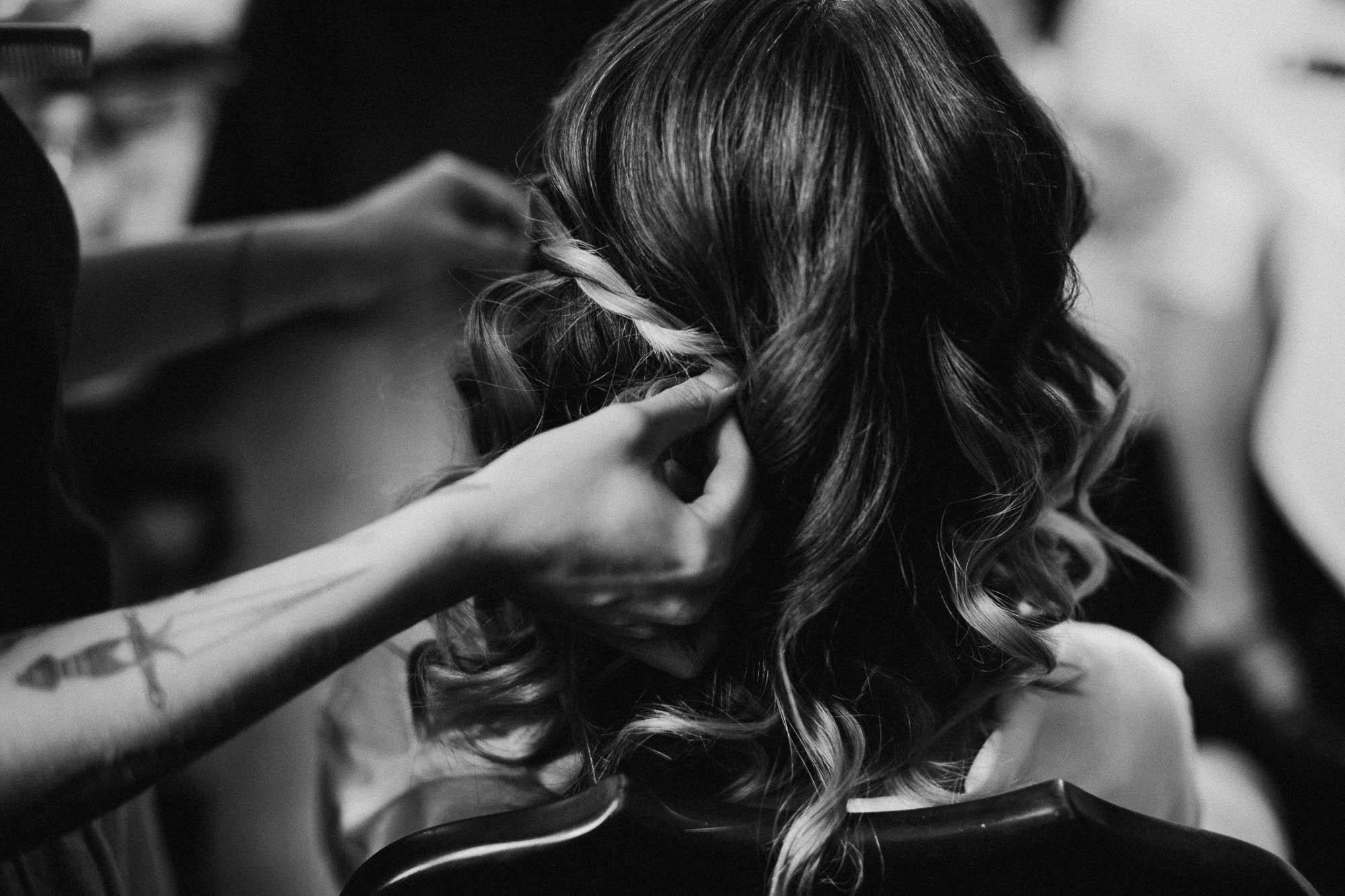 Bryn Du Mansion Wedding Hair Styling