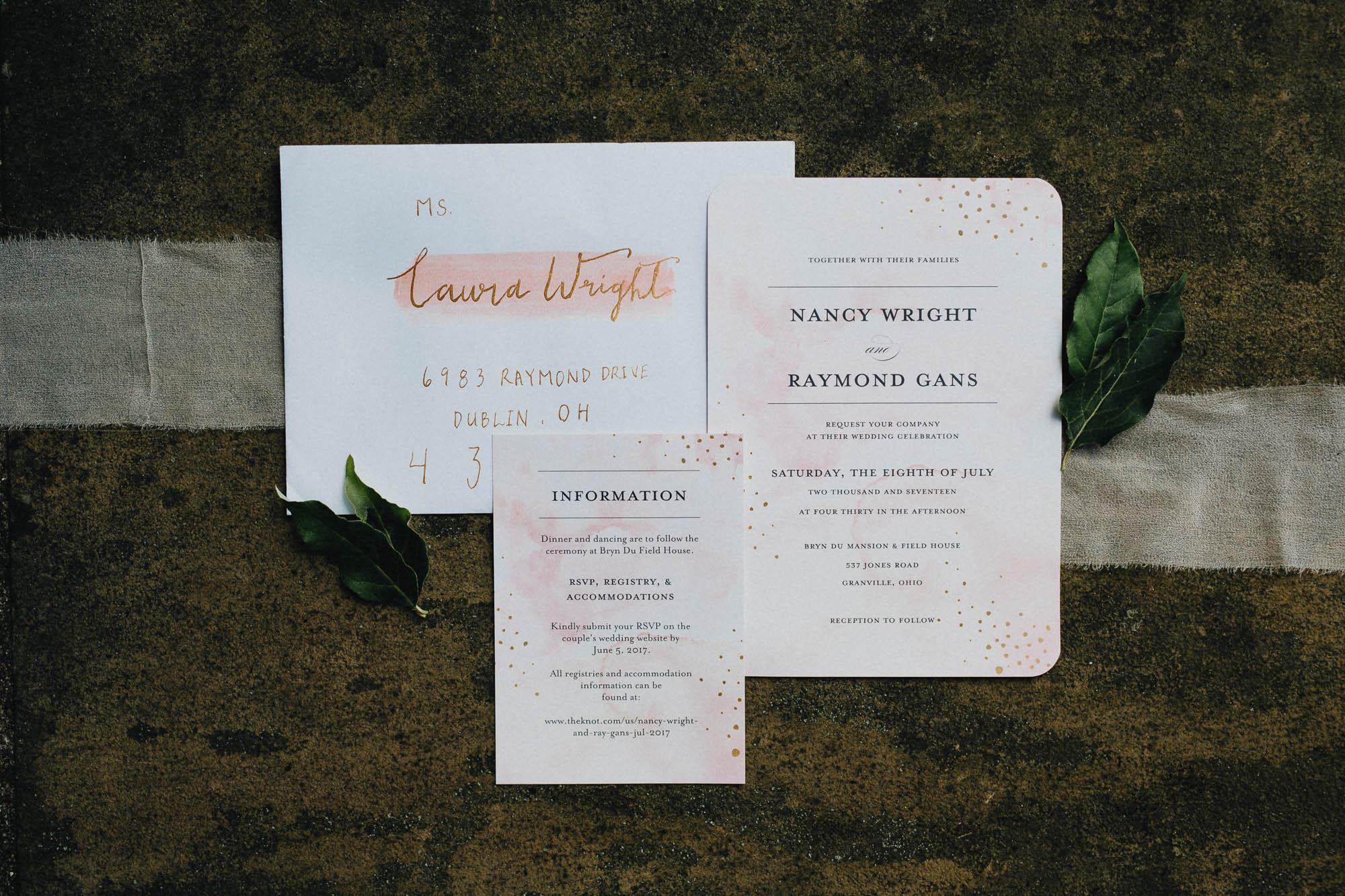 Custom Handmade Wedding Invitations