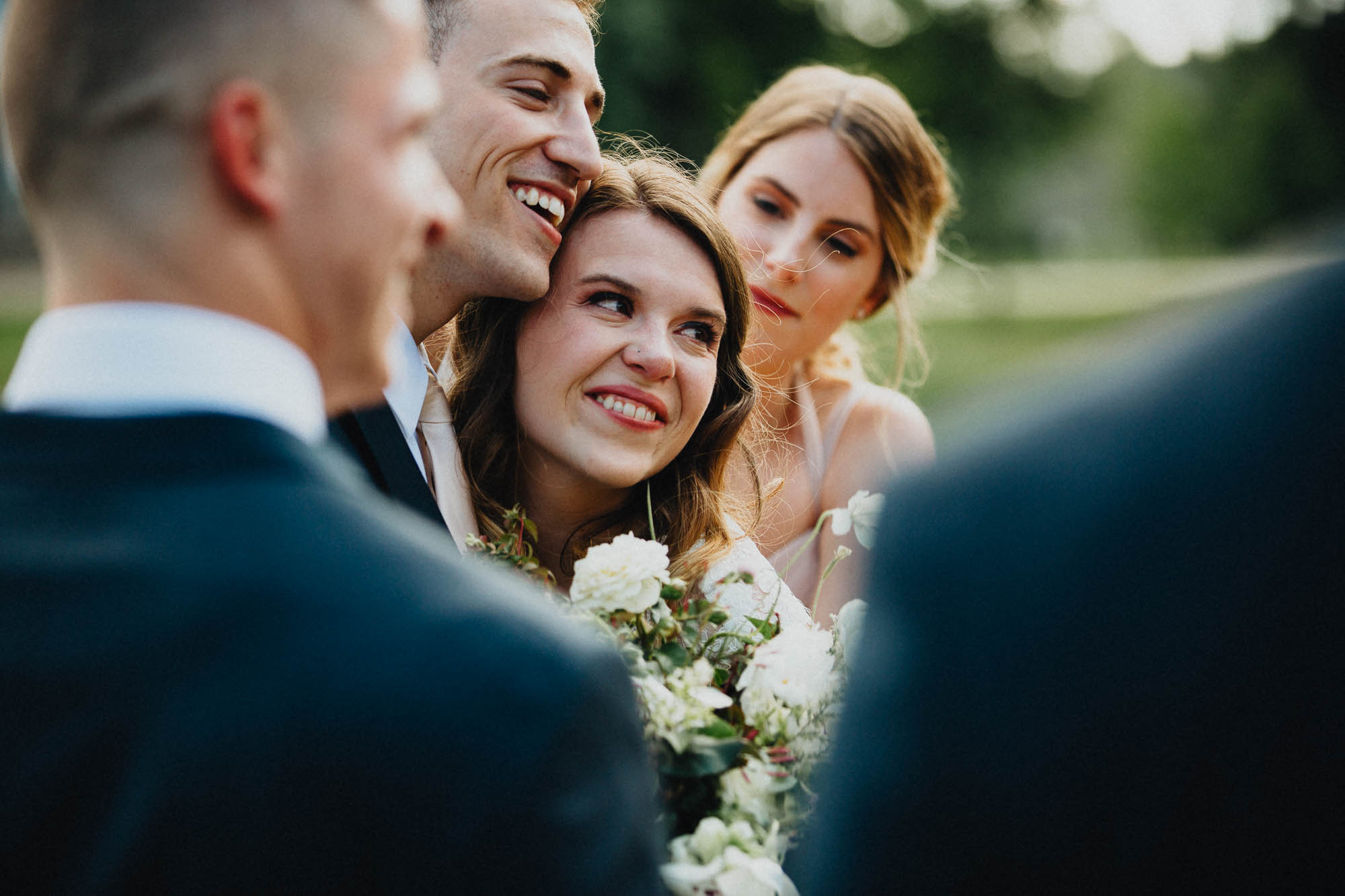 The Joy Felt After The Wedding Ceremony at Bryn Du Mansion in Columbus Ohio