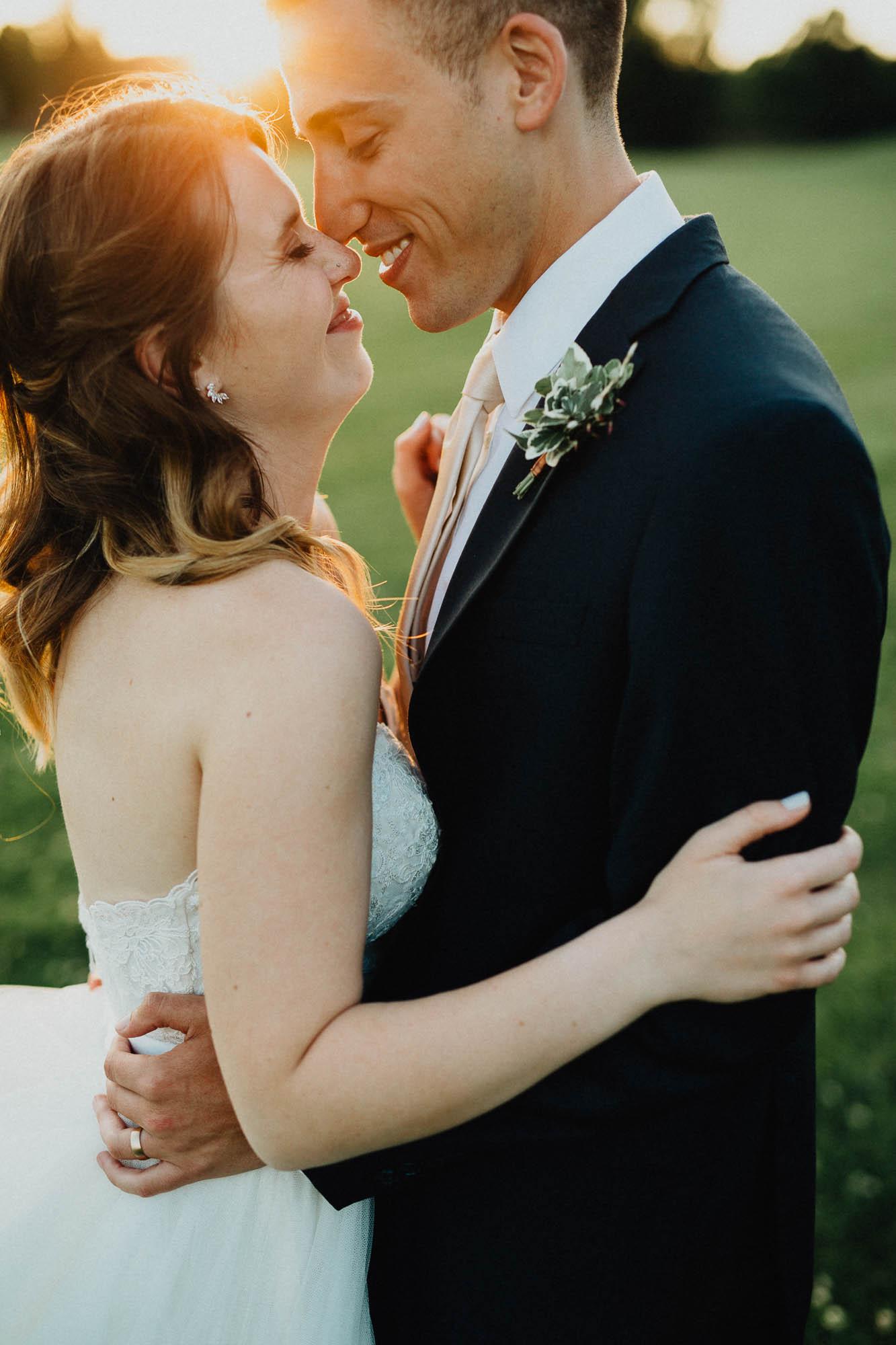 Sunset Portrait at a Columbus Ohio Wedding