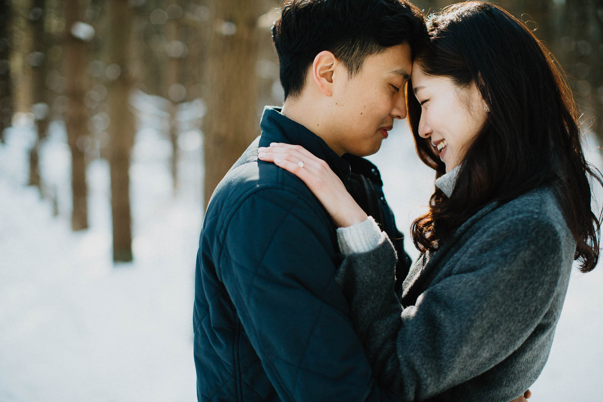 Walnut Woods Engagement Session in the Snow